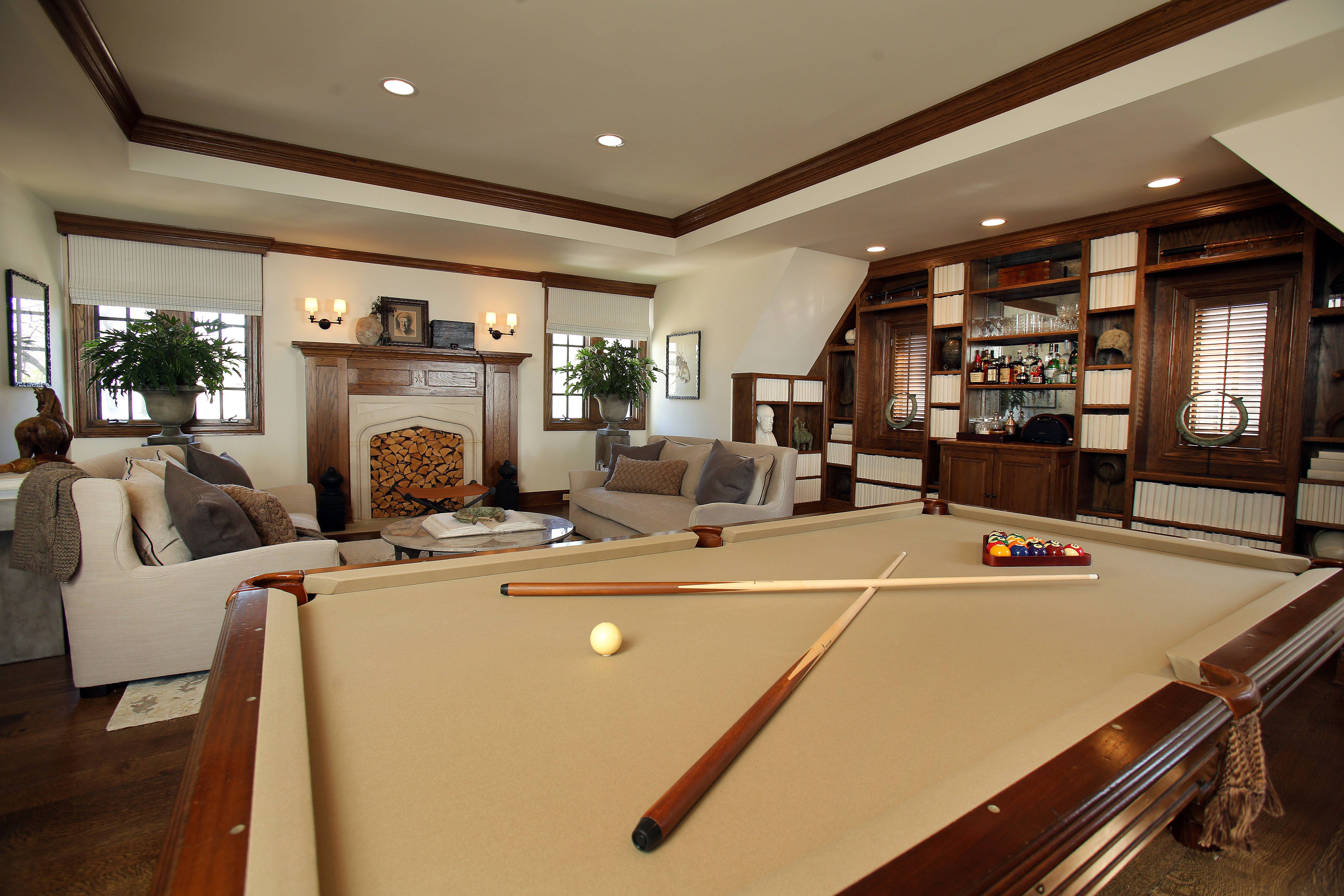 Mickel Welch rejected the idea of green felt on the pool table in his man cave.