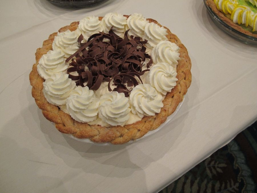Matt Zagorski of Arlington Heights took first place in the Cream Pie Category at the National Pie Championships in April 2015 with his Pearl Bailey's Cream Pie.