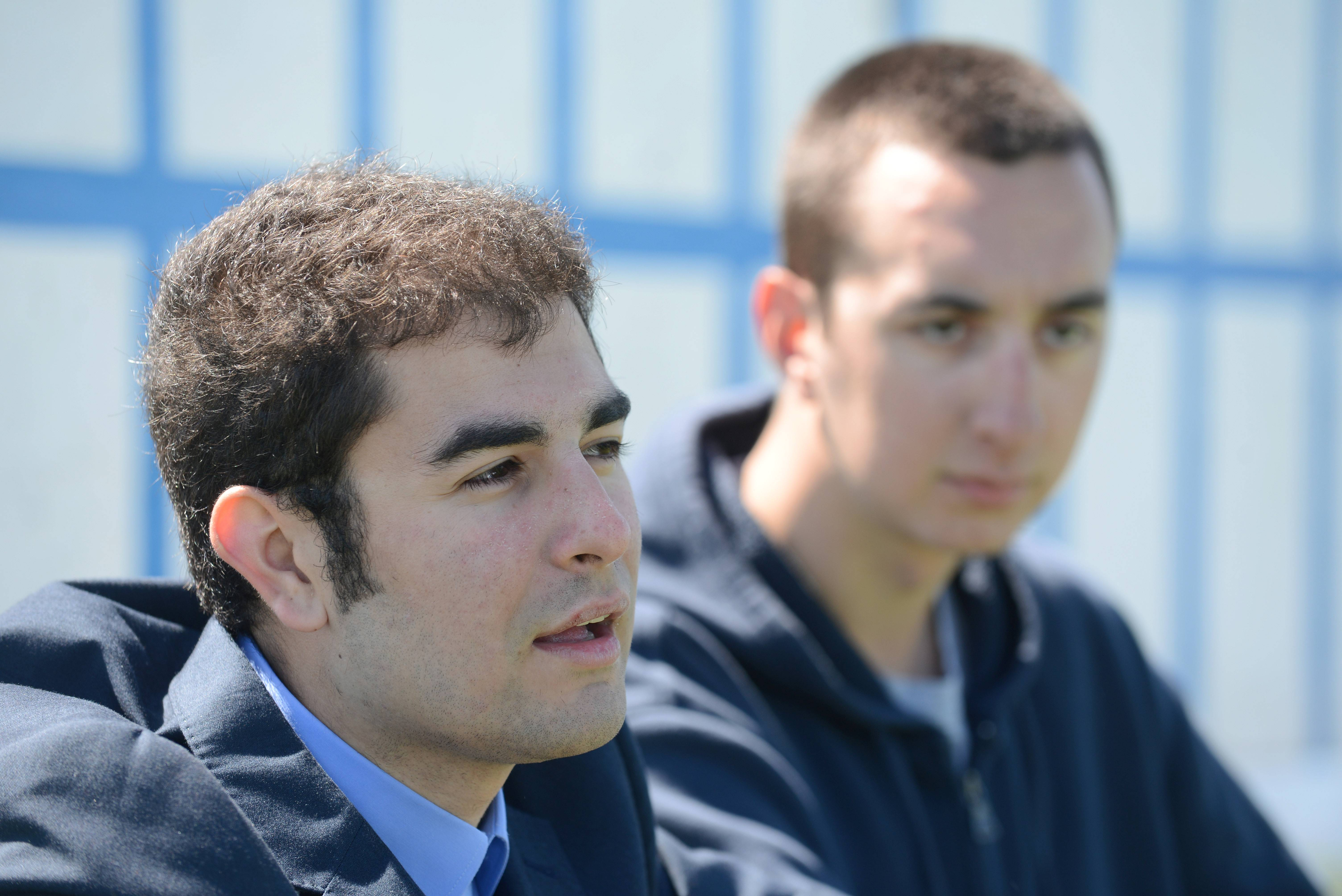 Batavia's Andrew Martinez, left, and Brad Speranza are spreading the word about their Wiffle ball field and leagues.