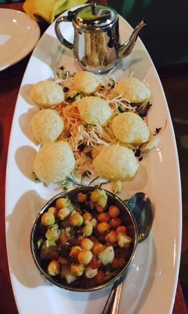 Marigold Maison recently opened in Bannockburn serving gol guppa -- whole wheat puffs with a potato and chickpea mix and spice water -- and other Indian specialties.