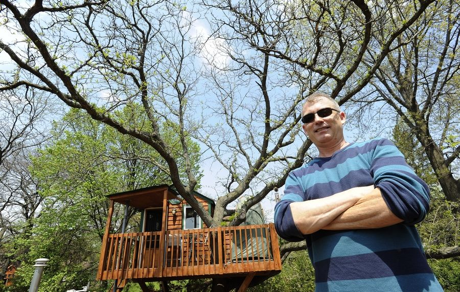 Dan Alexander's luxury treehouse in Schaumburg has attracted the attention of the Schaumburg Township assessor's office, which is researching whether it should be assessed as a second residence on the Winchester Lane property.