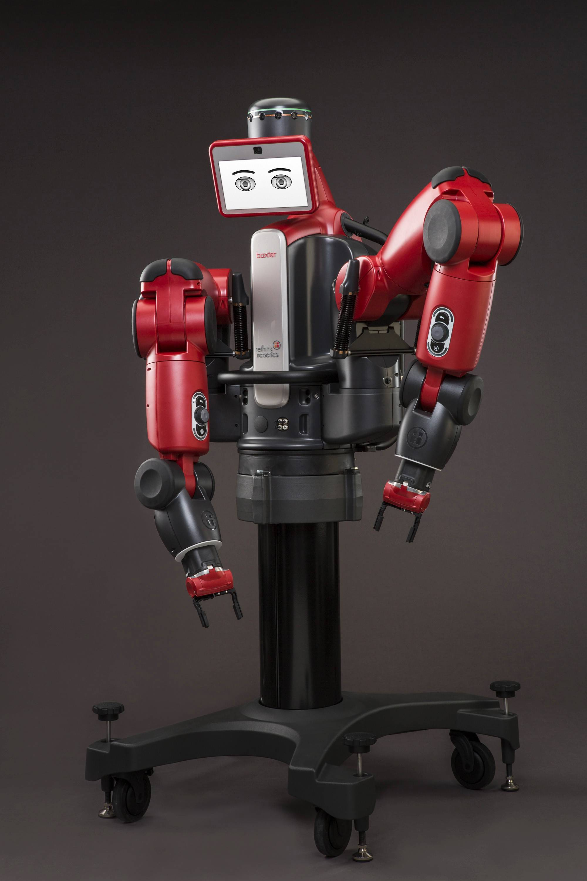 "The versatile robot Baxter, created to work in industry alongside humans, is one of about 40 robots featured in ""Robot Revolution"" at the Museum of Science and Industry in Chicago."