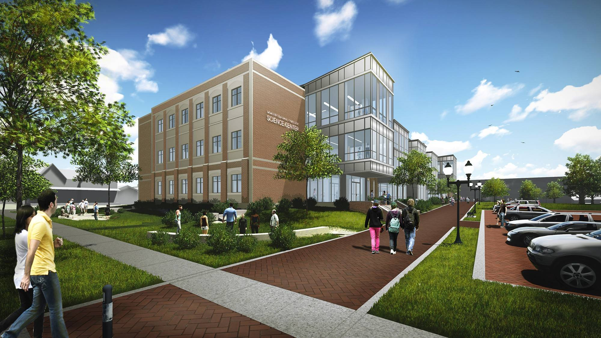 Construction of a new science center at North Central College in Naperville began Friday with a groundbreaking ceremony. The college is raising $60 million for the new facility to provide updated teaching and research labs, seminar rooms, offices and student gathering spaces.