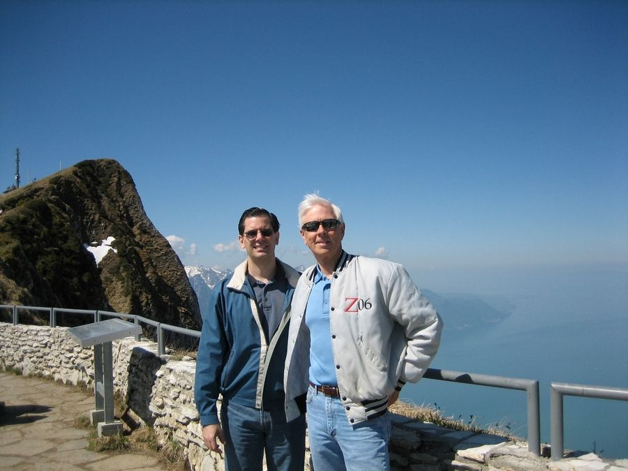 Dennis Jurs, right, worked 43 years for Cla-Val in Elgin. Here he is pictured with regional manager Andy Caselli during a company trip to Switzerland in 2010.