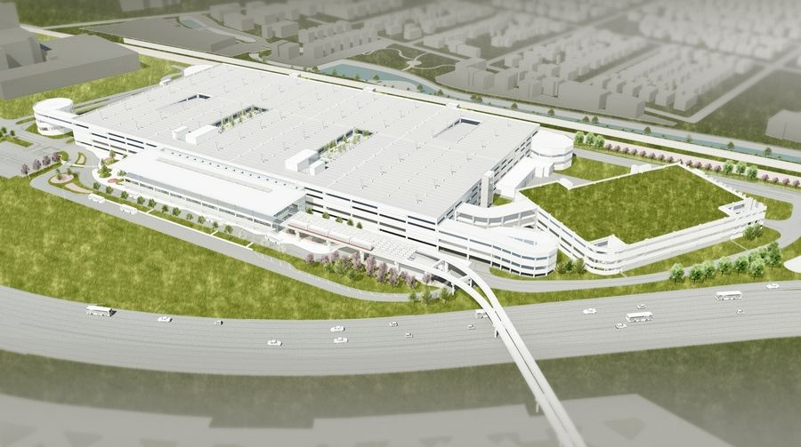 An artist's rendering depicts the new nine-story parking structure being built at O'Hare International Airport.