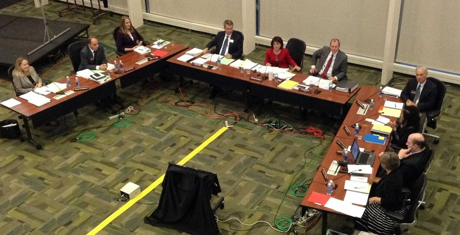 College of DuPage trustees revised a list of board policies during their meeting Thursday night in Glen Ellyn.