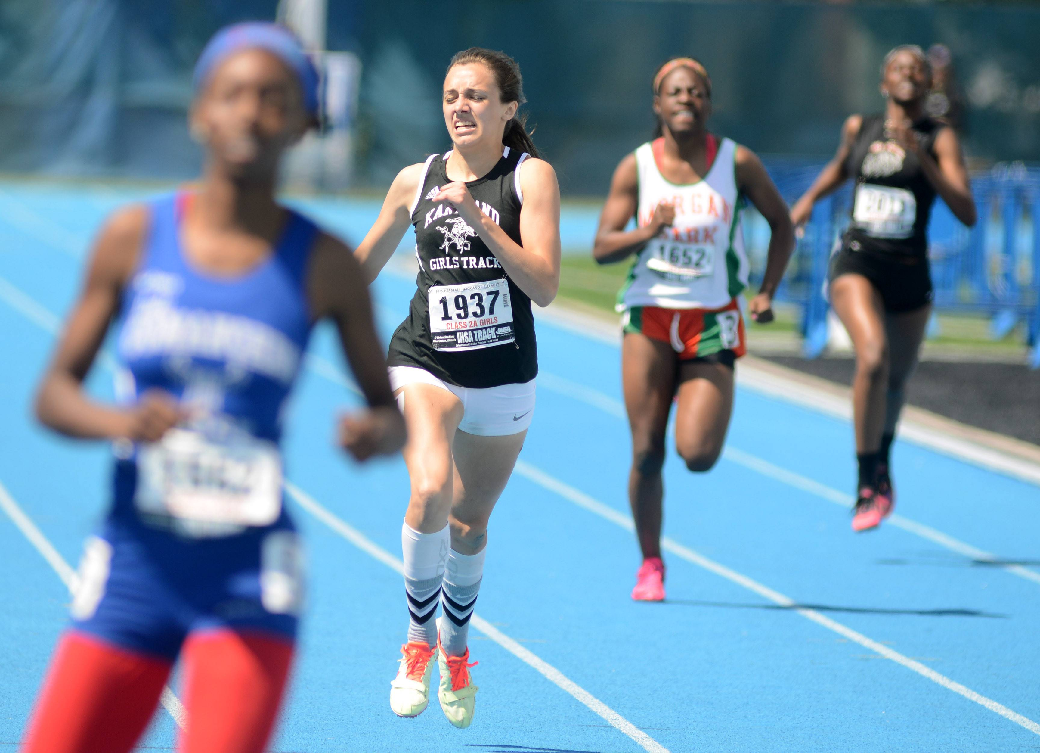Kaneland's Allie Heinzer takes third place in the 400-meter dash in the IHSA Class 2A state finals.