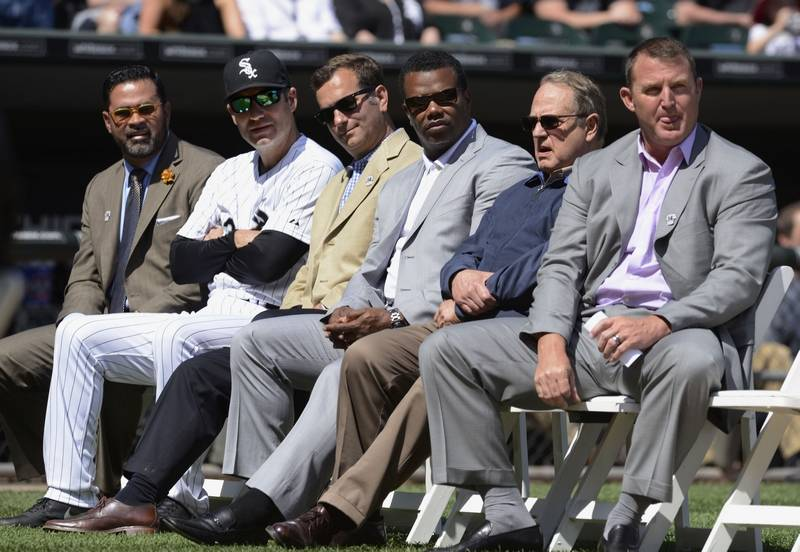 White sox next retired number go with ozzies 13 former white sox player and manager ozzie guillen far left was part of the sciox Choice Image