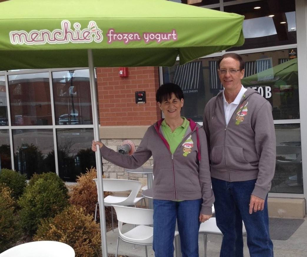 Marcia and Tom Swingle, owners of the new Menchie's in Lincolnshire.