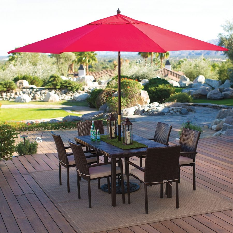 Use an umbrella large enough to shield all guest around the table from the sun.