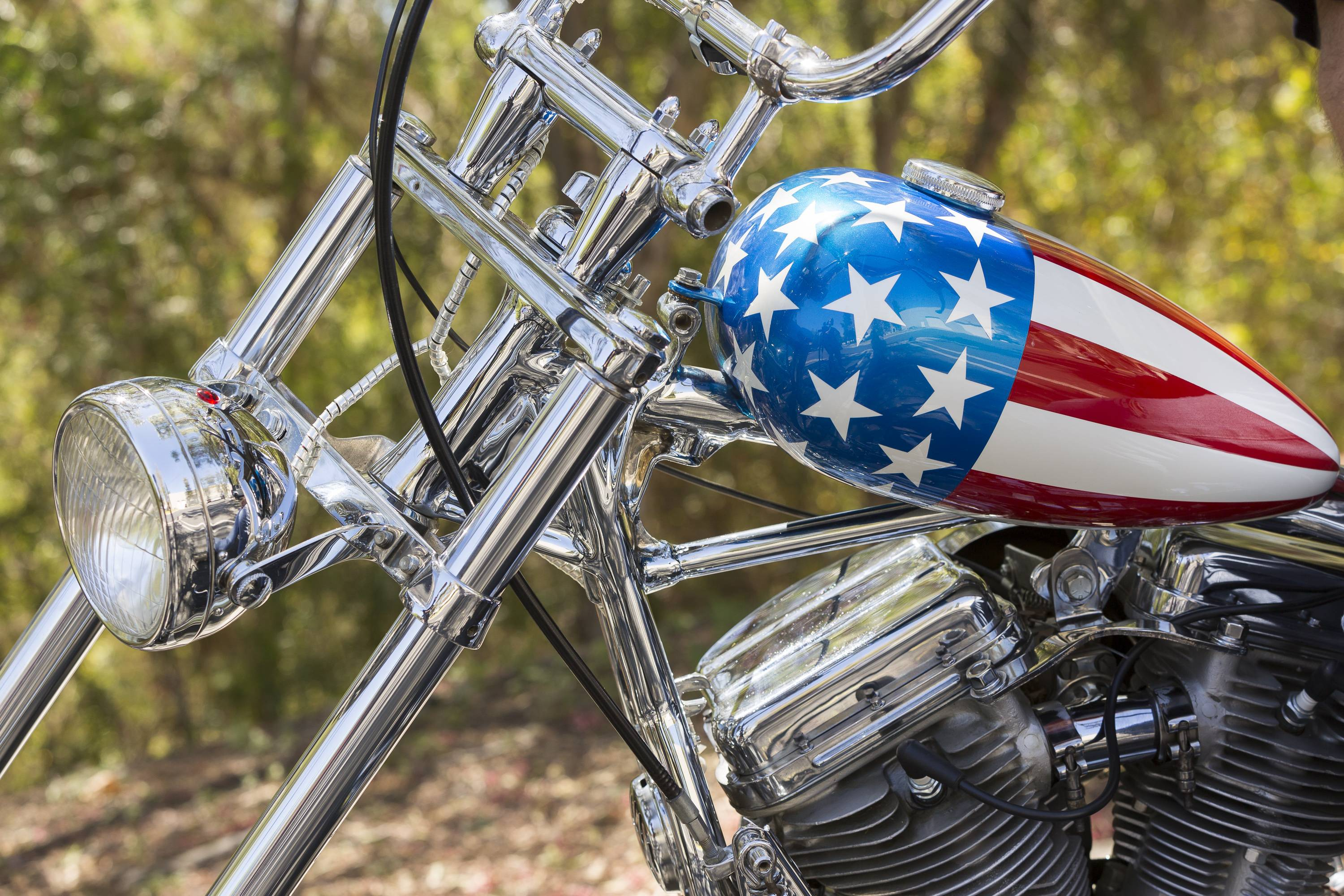 "The Captain America chopper Peter Fonda rode in ""Easy Rider"" is one of the most recognizable motorcycles of all time."