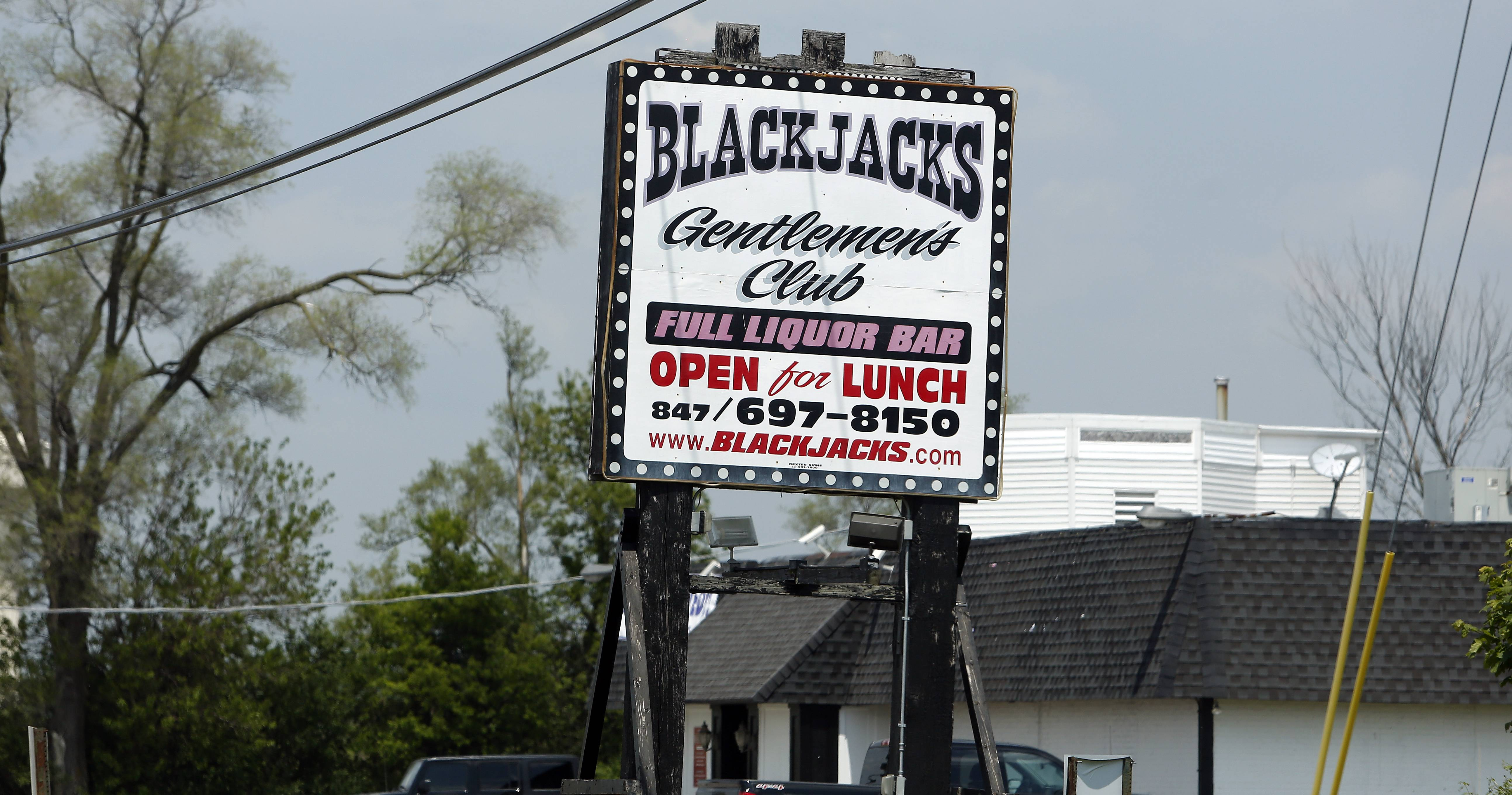 Despite the sign, Blackjacks lost its liquor license in 2012 when its owners went to prison. But that gives it more flexibility on hours and nudity.