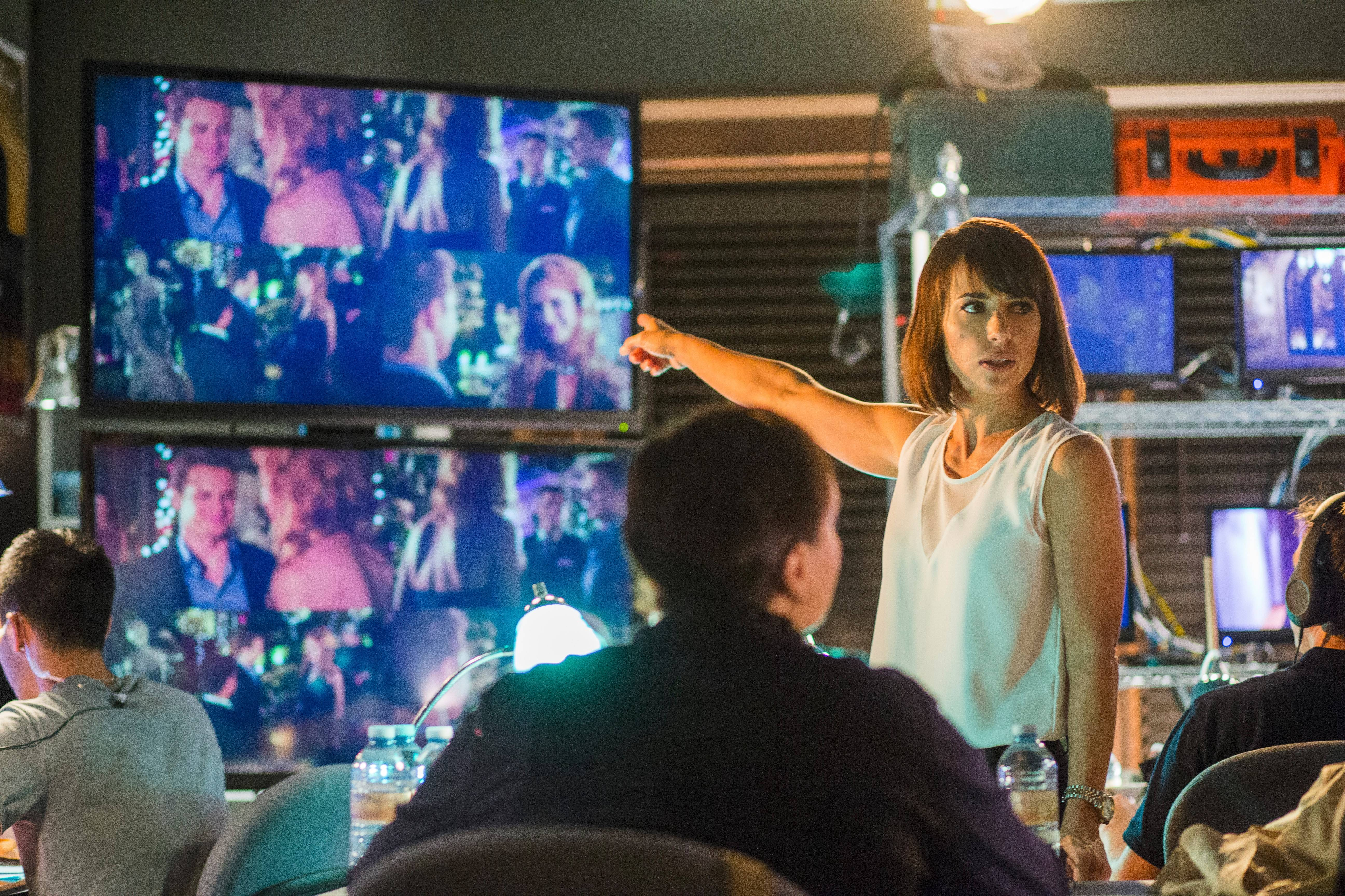 "Quinn (Constance Zimmer) runs a fictional dating reality show in Lifetime's new drama ""UnReal."""