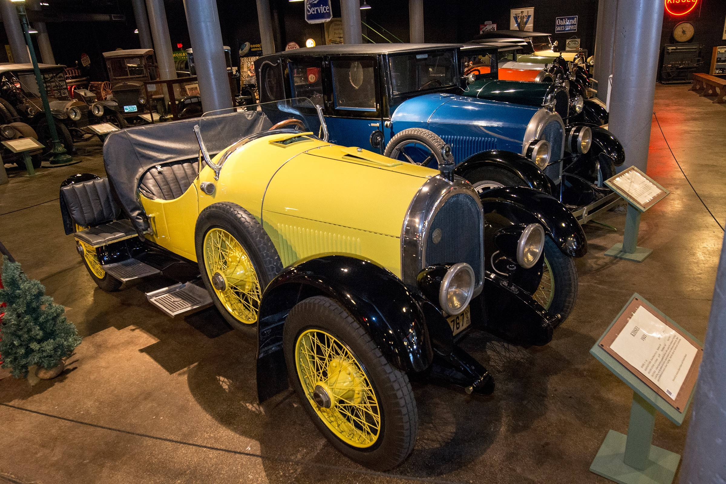 The largest auto museum in Wisconsin is the Wisconsin Automotive Museum, located in the sleepy little town of Hartford.
