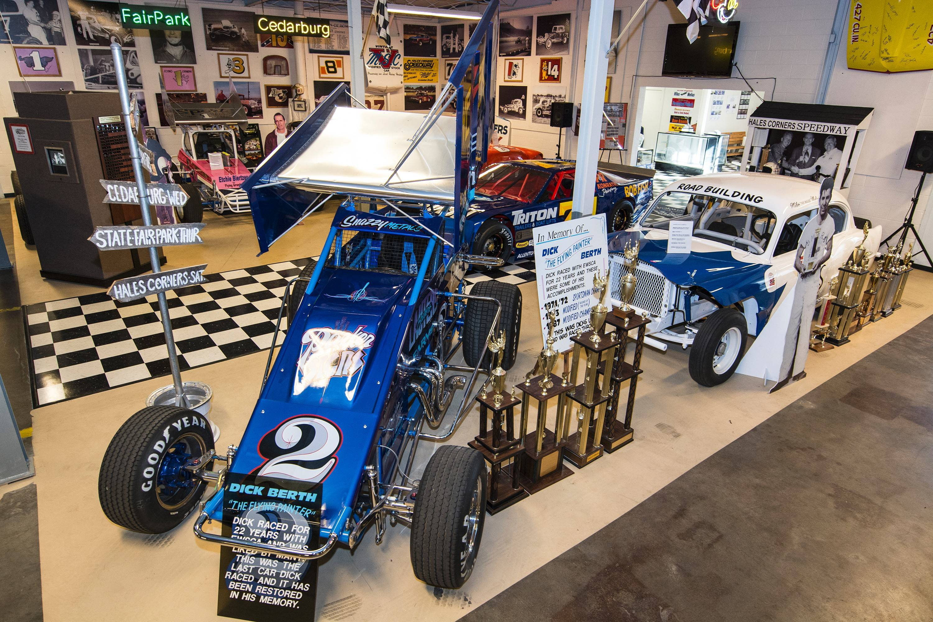 On the second floor of the museum, the Wisconsin Short Track Hall of Fame and its exhibit can be found.