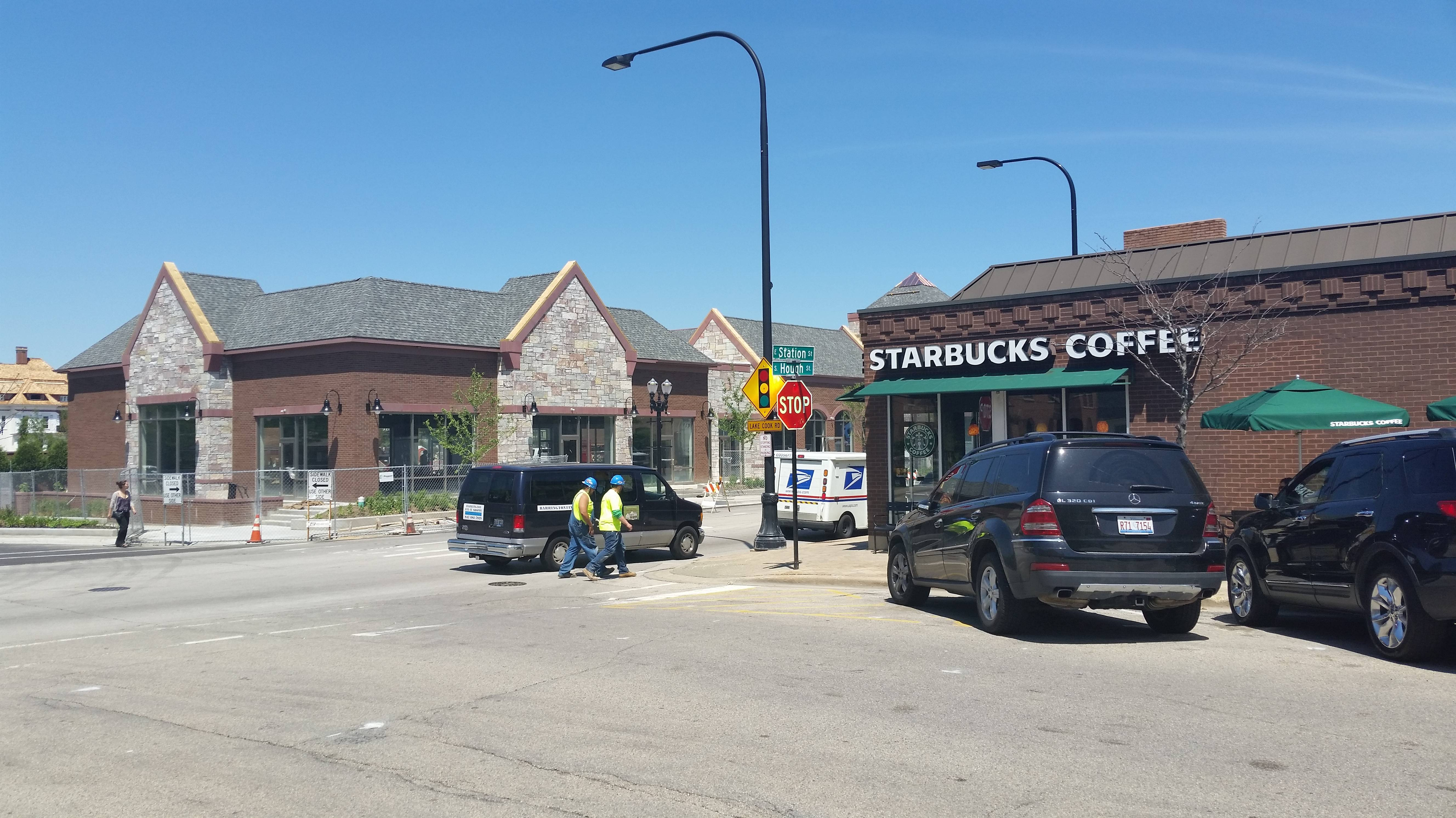 The Starbucks at the corner of Station and Hough streets in downtown Barrington will relocate to the Barrington Village Center project across the street. The village said the Starbucks will double in size with the move.