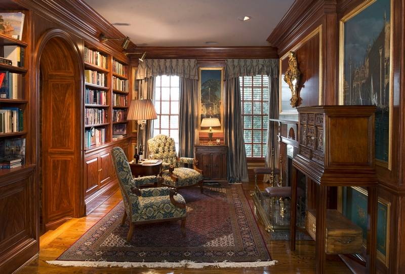 From the pub to the barn maryland estate is lavish for Library painting ideas