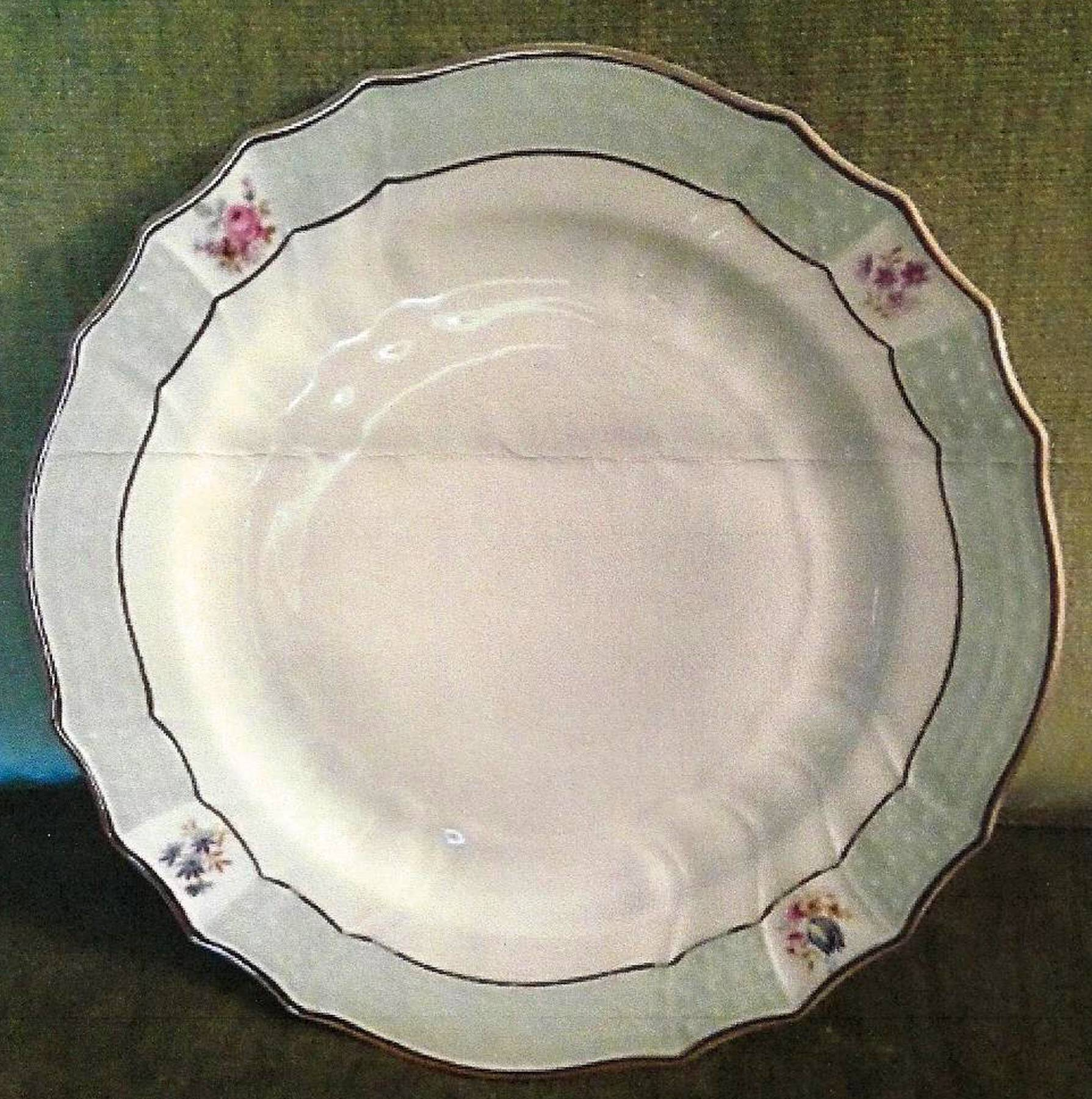 Hutschenreuther Porcelain Factory maker of this set was founded in Selb Germany & Porcelain dinnerware was made in Germany