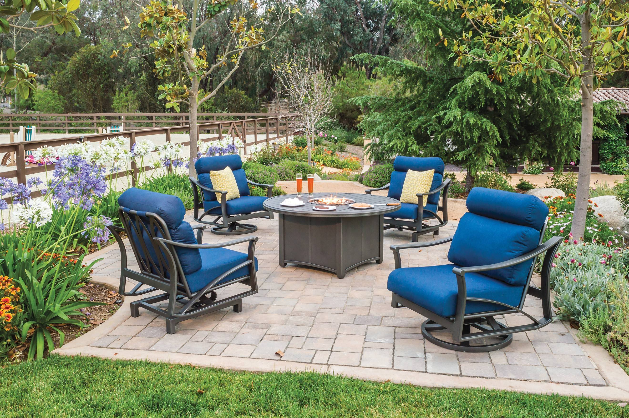 Modern Fabrics And Designs Allow Outdoor Seat Cushions To Withstand The  Rain.