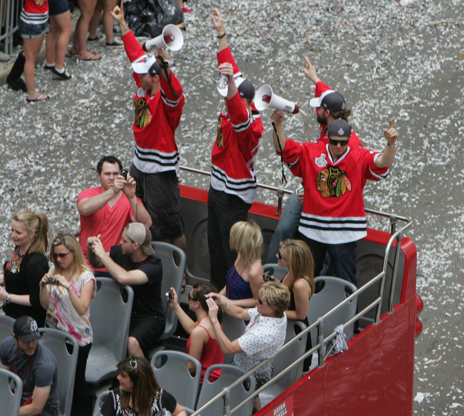 A view of the 2010 Chicago Blackhawks Stanley Cup celebration in Chicago.