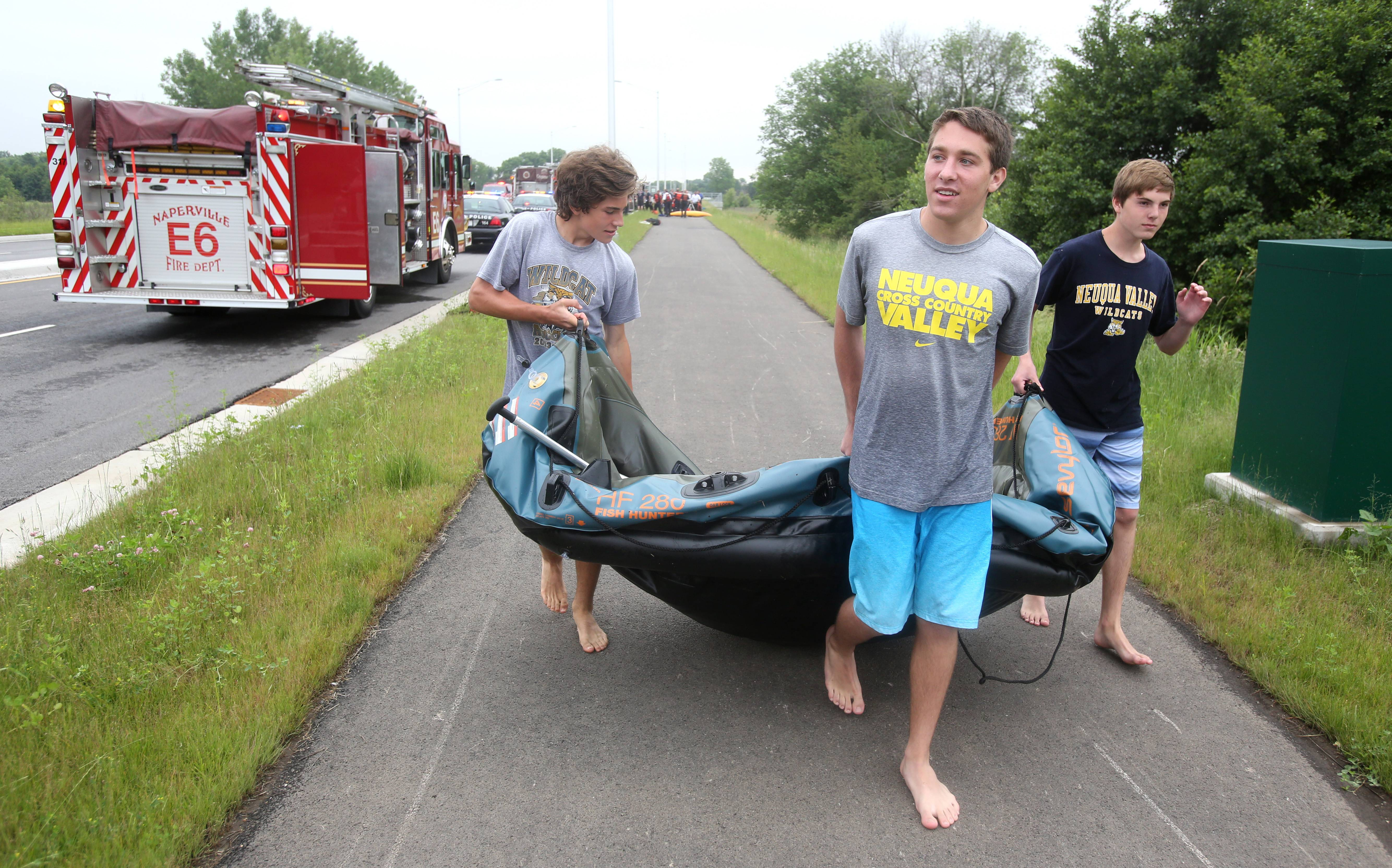Third rescue in 2 days from DuPage River in Naperville