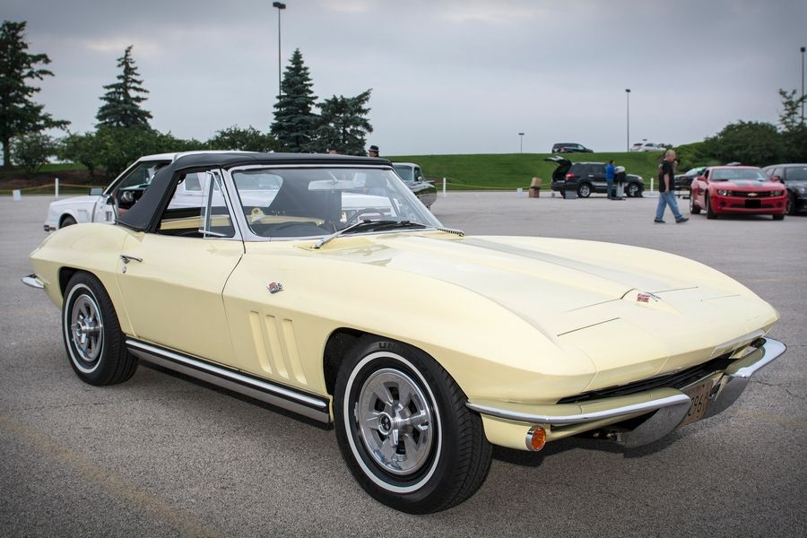 Lee Streufert's 1965 Chevrolet Corvette earned Matt Avery's Pick at the first 2015 Daily Herald Cruise Night hosted by Stratford Square Mall in Bloomingdale.