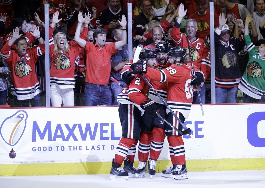 Today, the stadium is packed with passionate fans. Here, fans go wile after Chicago Blackhawks' Duncan Keith scores during the second period in Game 6 of the NHL hockey Stanley Cup Final series on against the Tampa Bay Lightning Monday, June 15, 2015, in Chicago.
