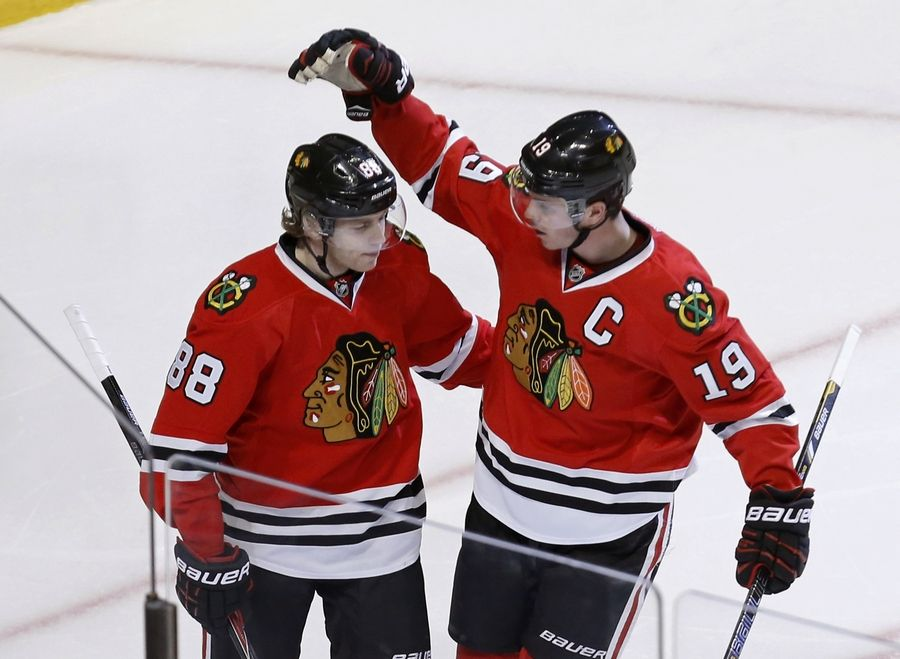 Blackhawks captain Jonathan Toews and teammate Patrick Kane will open the NHL season at home on Oct. 7. The Hawks also will play in another outdoor game in Minnesota on Feb. 21.