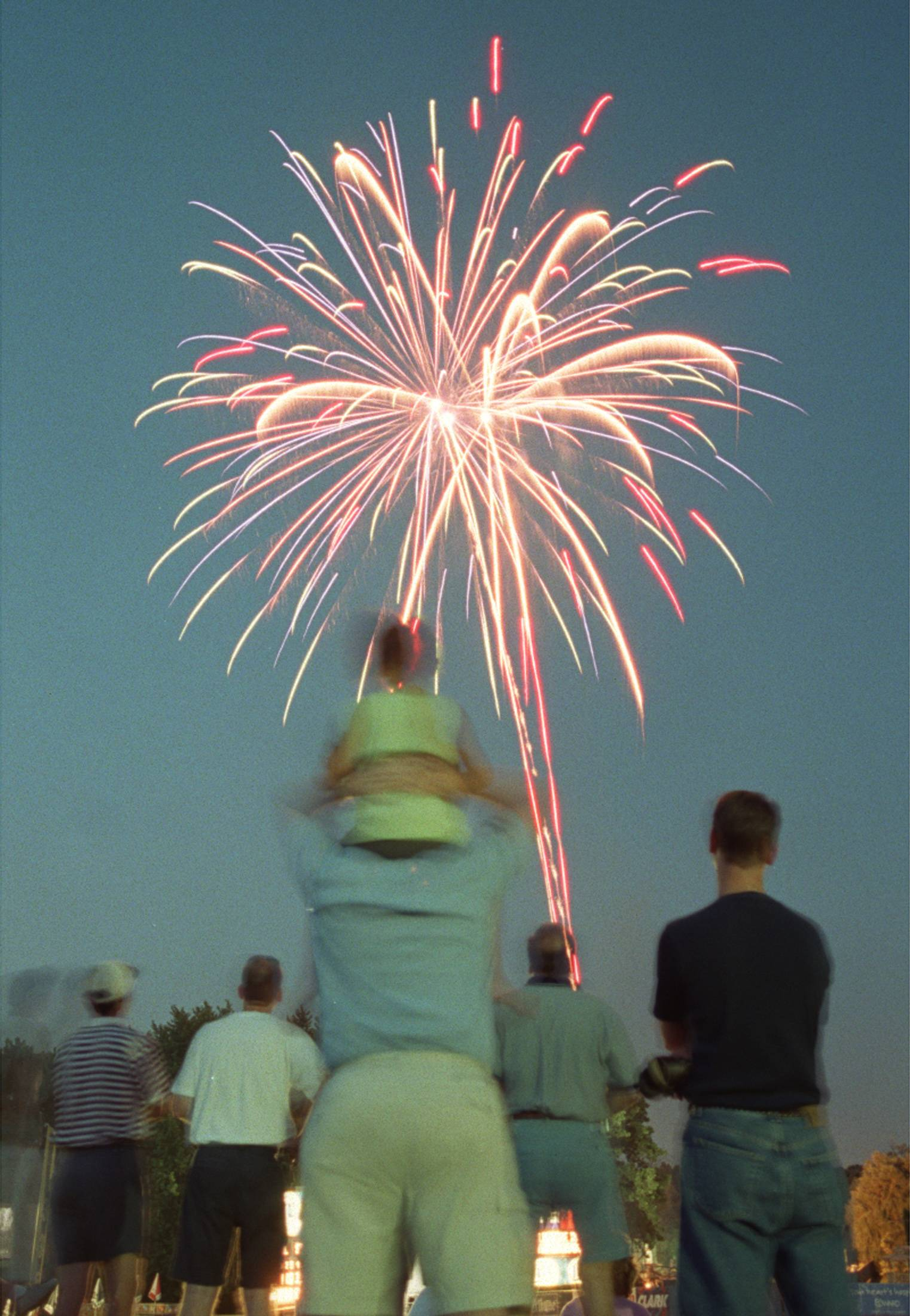 See fireworks on Friday, July 3, following the Kane County Cougars home game against the Clinton LumberKings in Geneva.