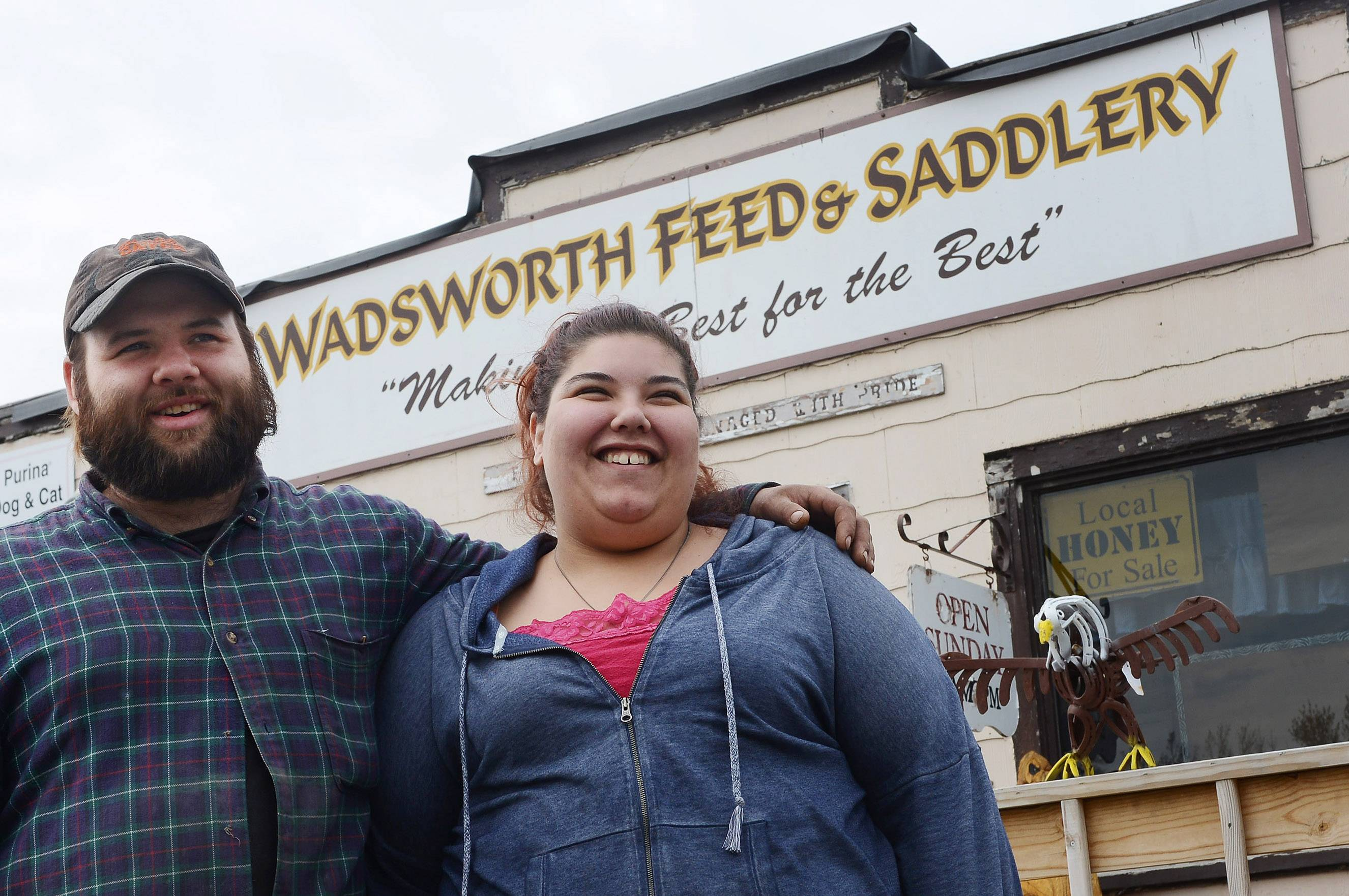 Josie Hays met her fianc�, Nick Mercer, at the Wadsworth Feed and Saddlery, which she manages as a family business. It turned out they share a passion for the feed business.