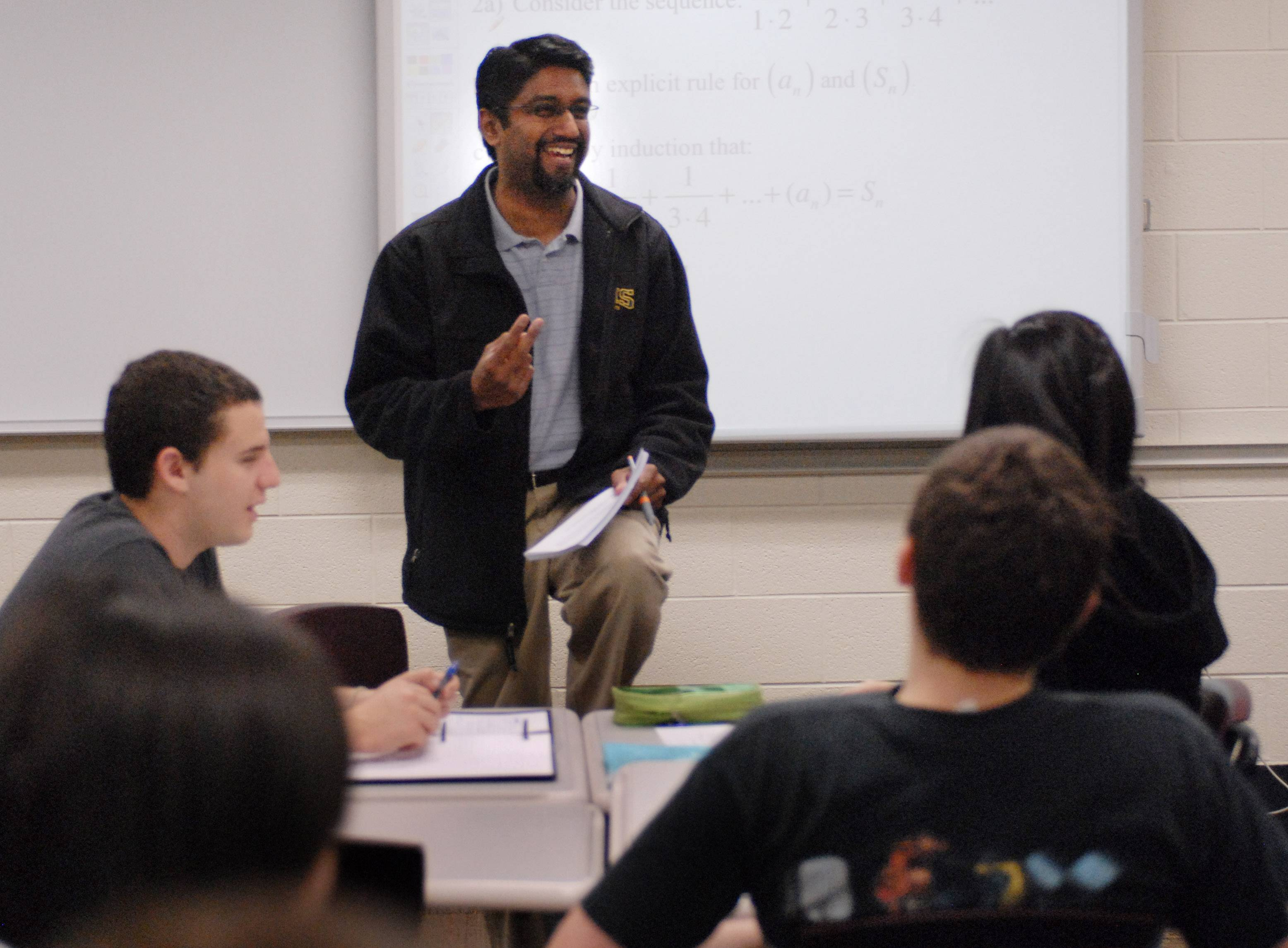 Darshan Jain, director of mathematics at Stevenson High School in Lincolnshire, has received a Presidential Award for Excellence in Mathematics and Science Teaching. Here he is when he taught in the classroom.