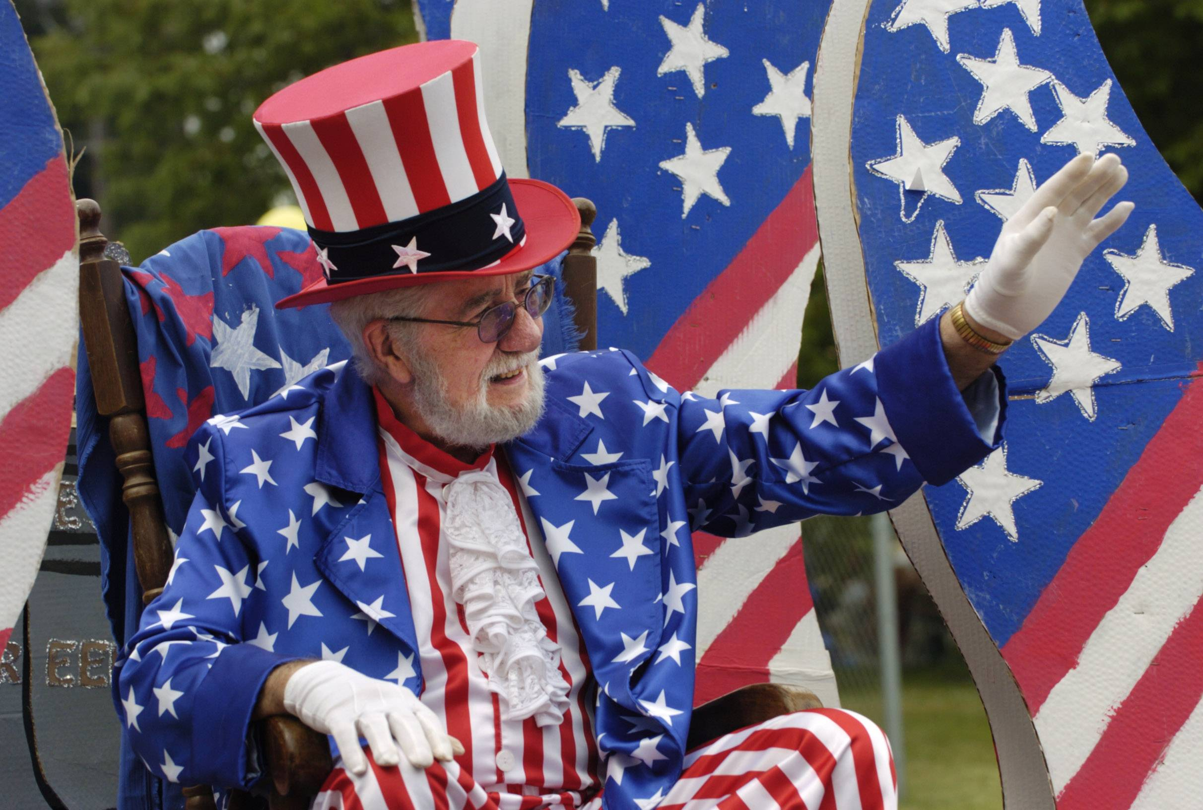 You might see Uncle Sam in a Fourth of July parade near you this weekend.