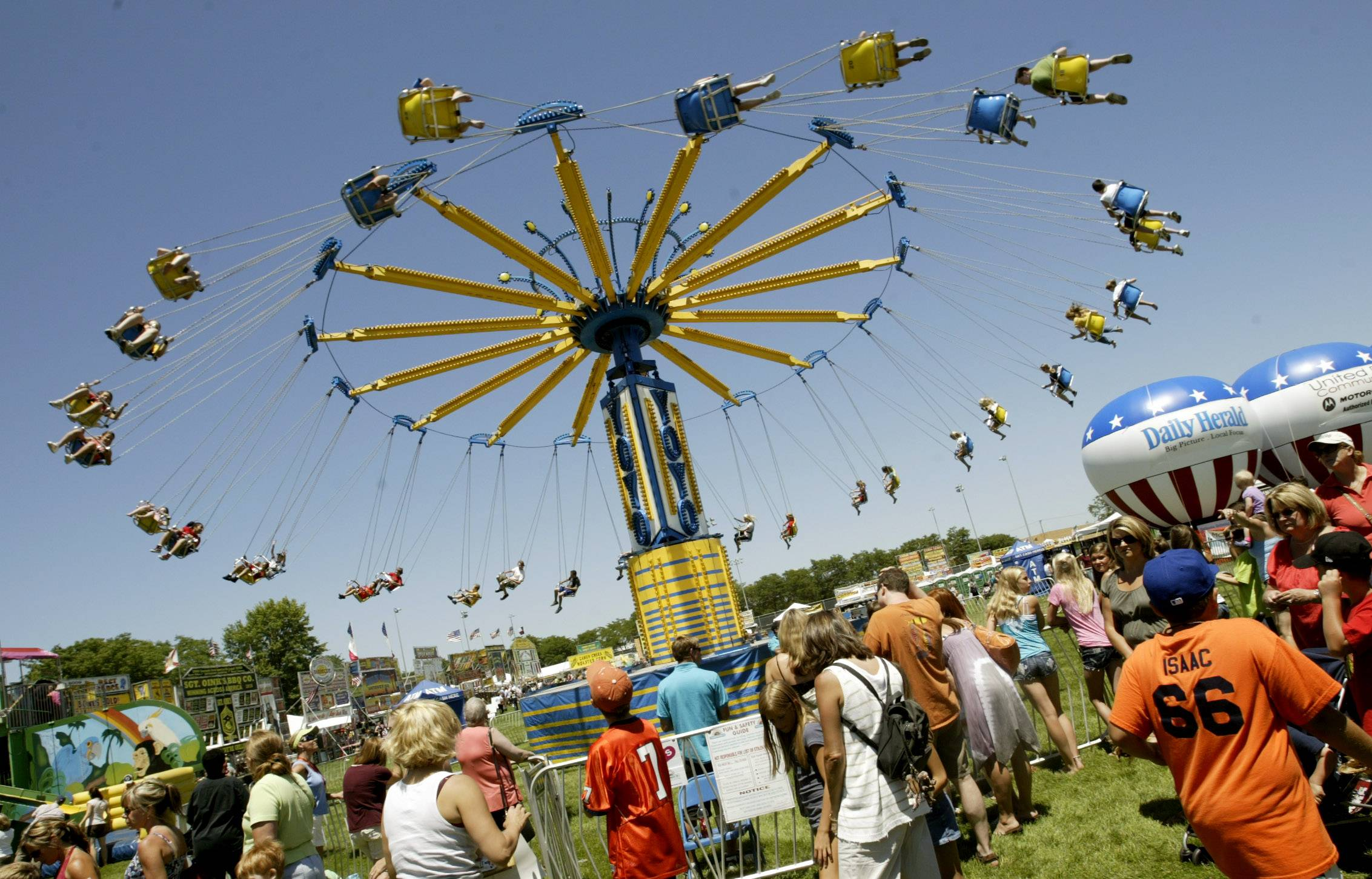 A carnival always has been part of Naperville's Ribfest, which is planning for its 28th year, but the array of rides has grown over the years.