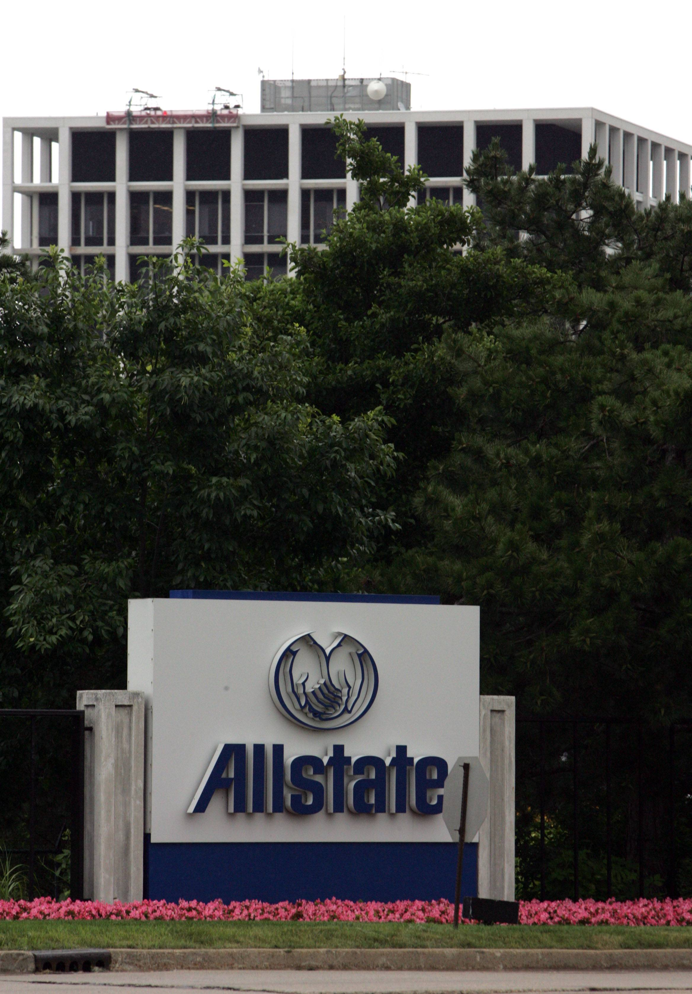 A building on Allstate headquarters in Northbrook. The company said Thursday it has laid off workers in its technology area.