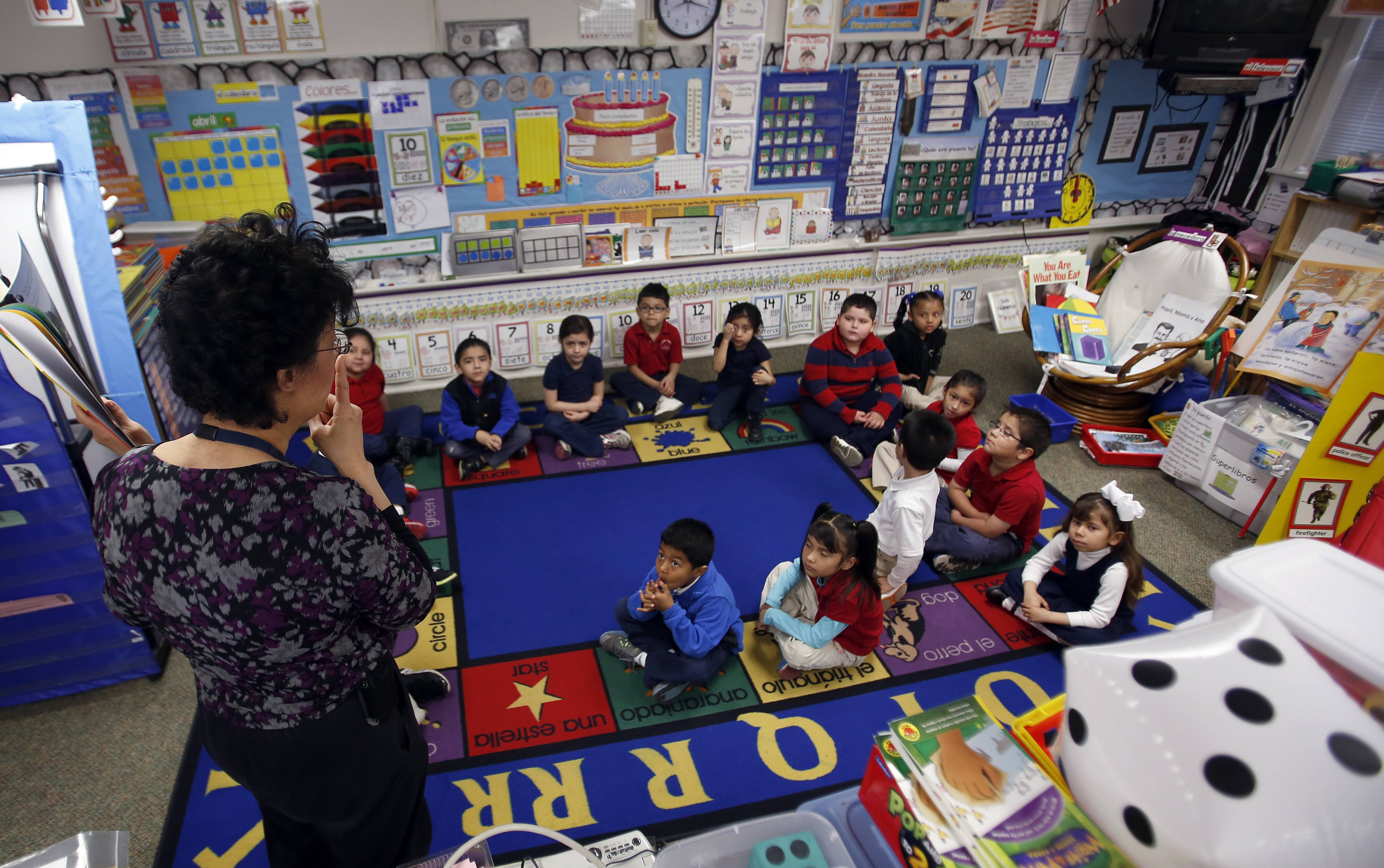 Dora Bodinet teaches kindergarten at McKinley Elementary School in Elgin, one of the Elgin Area School District U-46 schools that will benefit from about $2.4 million yearly in federal grants to expand access to full-day preschool services for 4-year-olds.