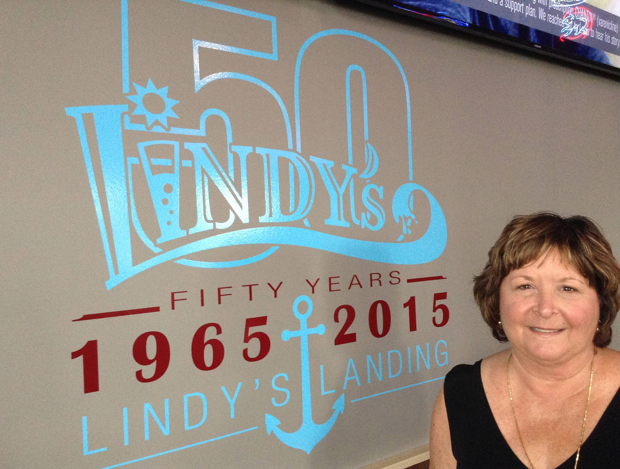 Laurie Barth is co-owner of Lindy's Landing in Wauconda. The popular restaurant and marina turned 50 this summer.