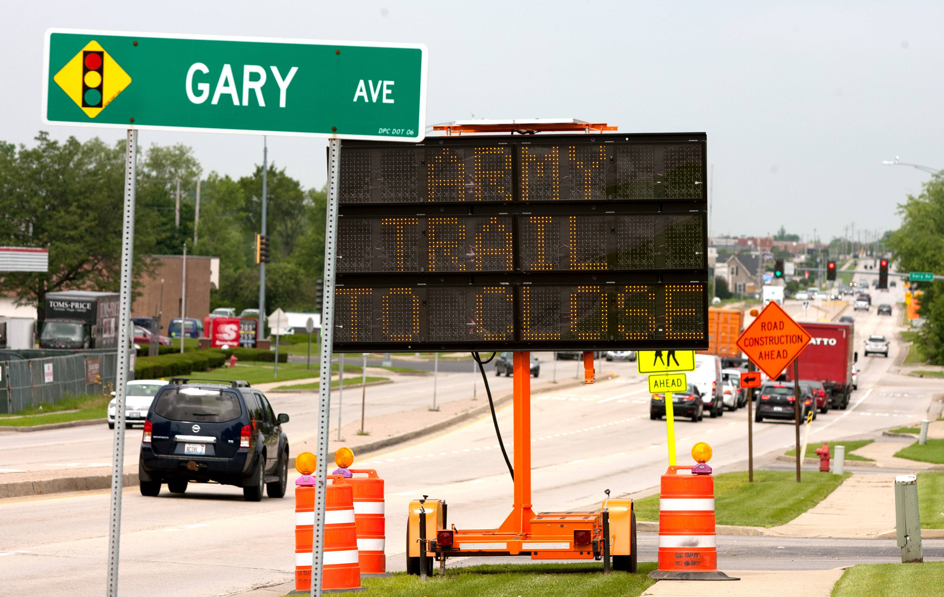 Repairs to the Canadian National Railway crossing on Army Trail Road west of Gary Avenue are expected to continue through Saturday.