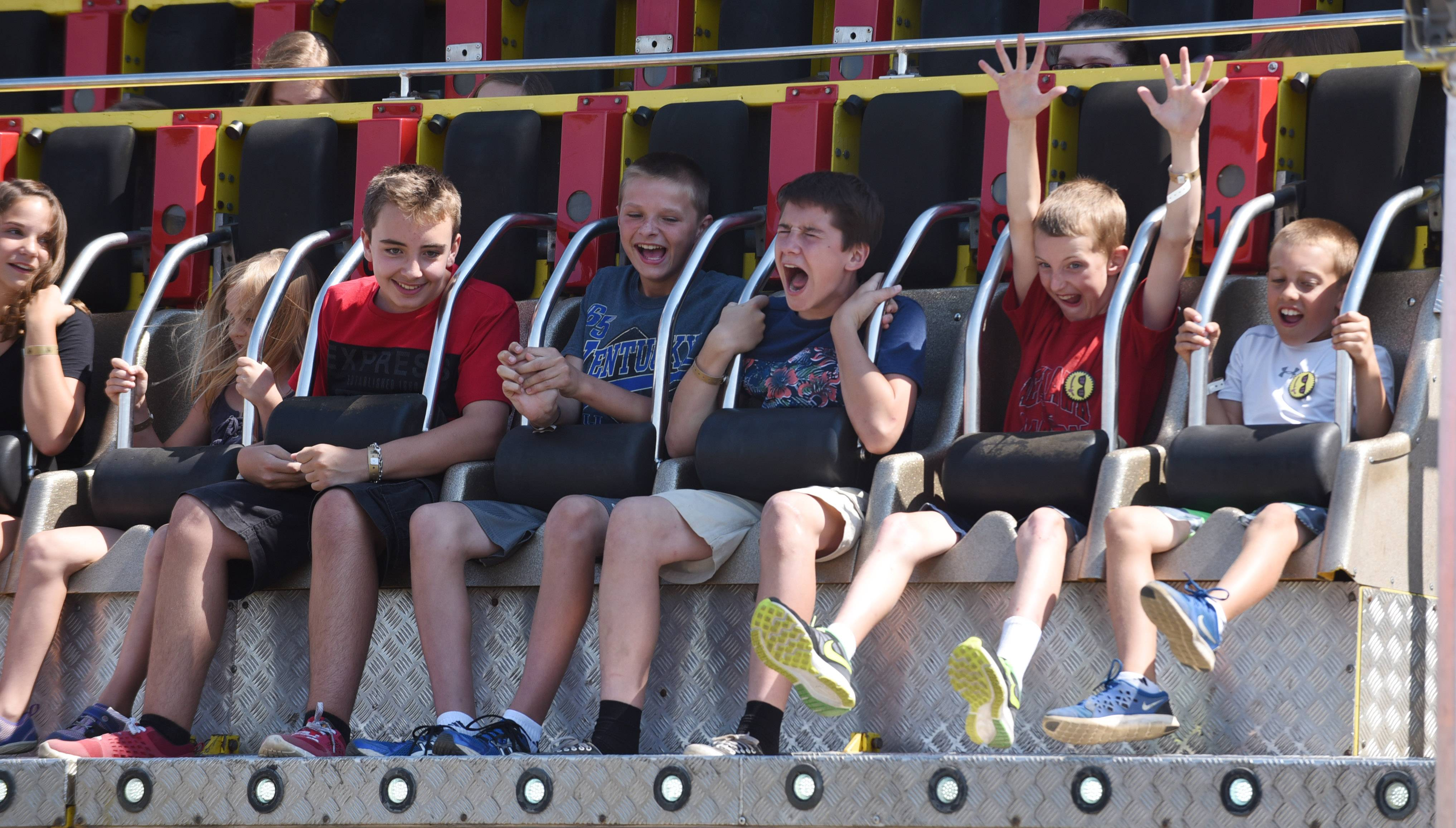 Kids enjoy a ride during Wauconda Fest at Cook Park in Wauconda Saturday.