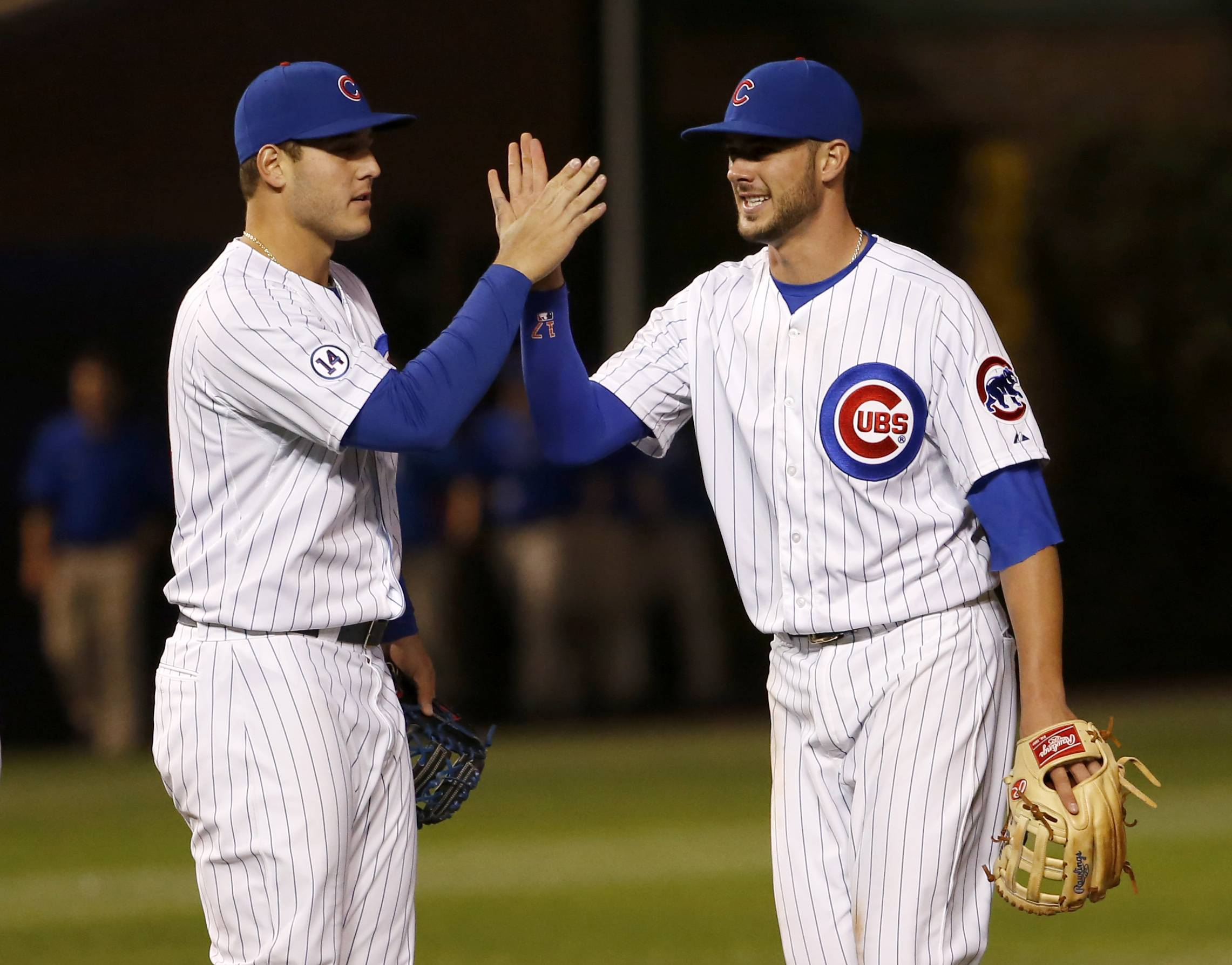 Two of the faces of a resurgent Cubs franchise.