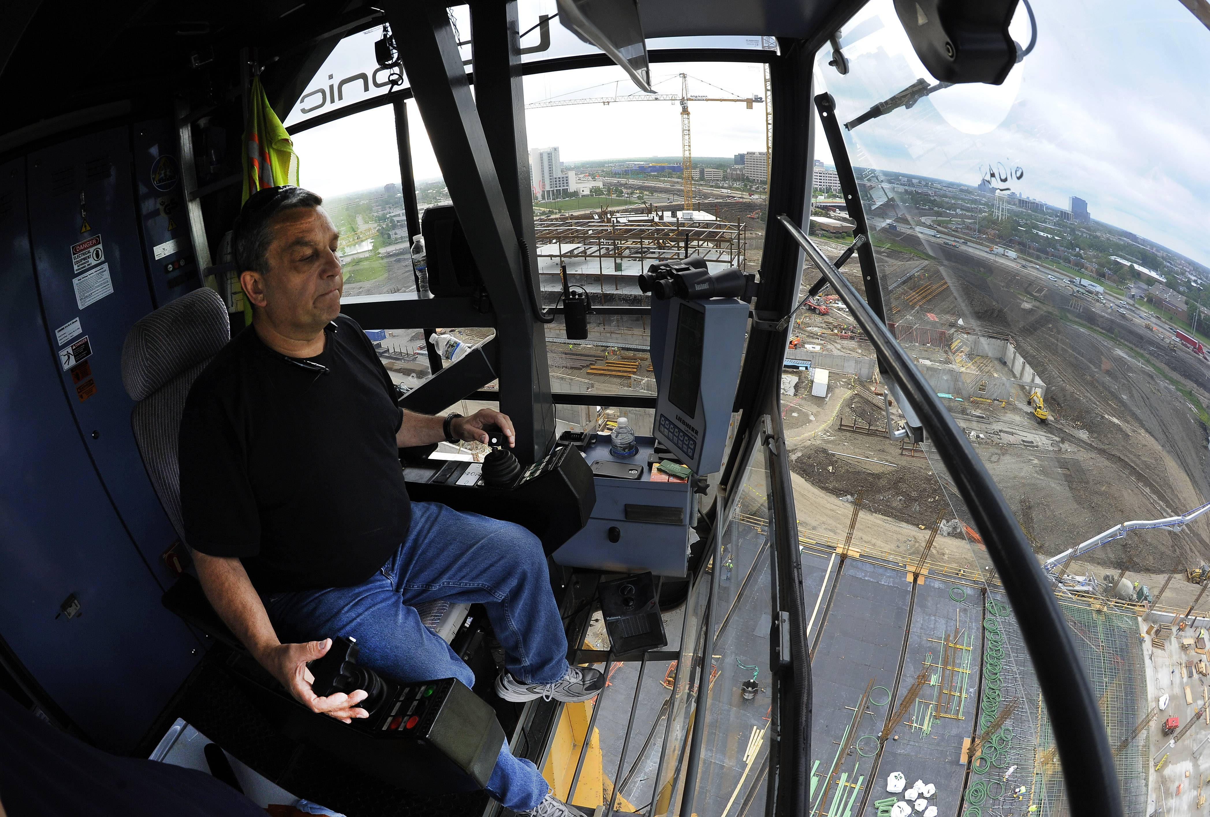 A view from a high seat: What it's like to operate a construction crane