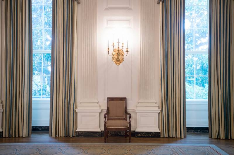 The Makeover Of White House State Dining Room Dressed Up Space With Sumptuous New