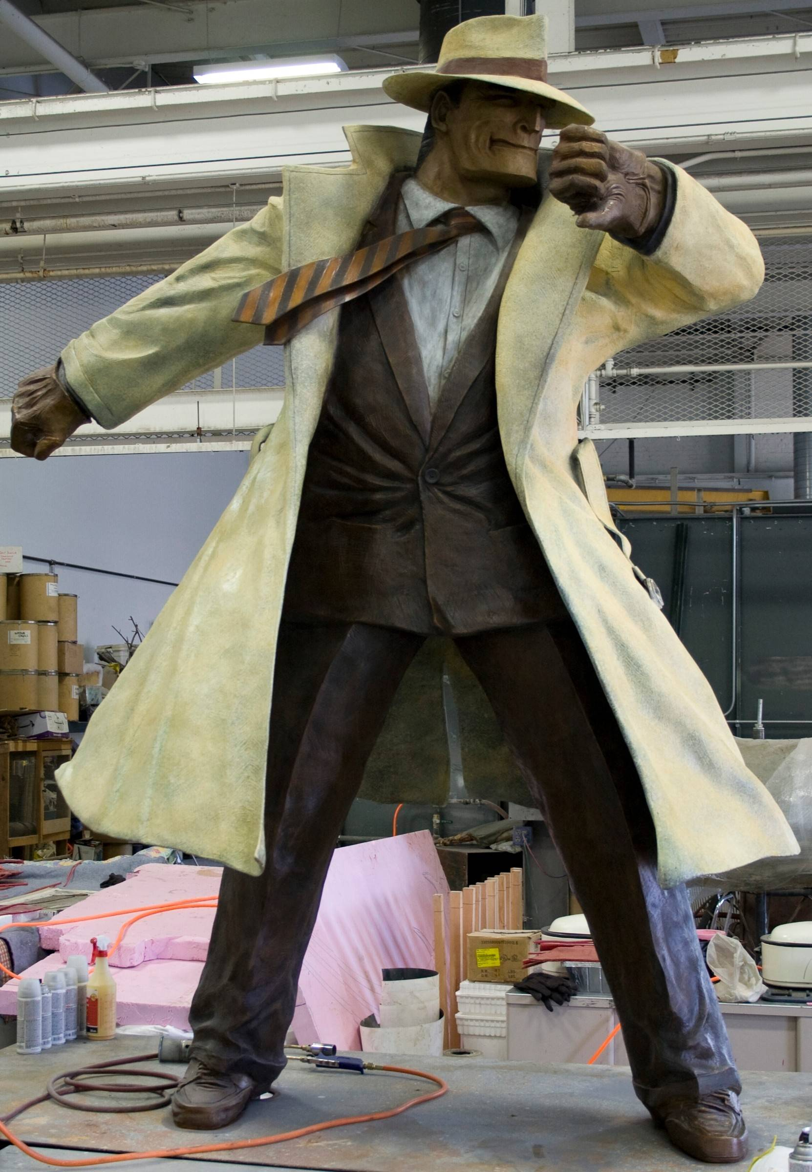 Naperville detective sculpture moving to 'higher ground'