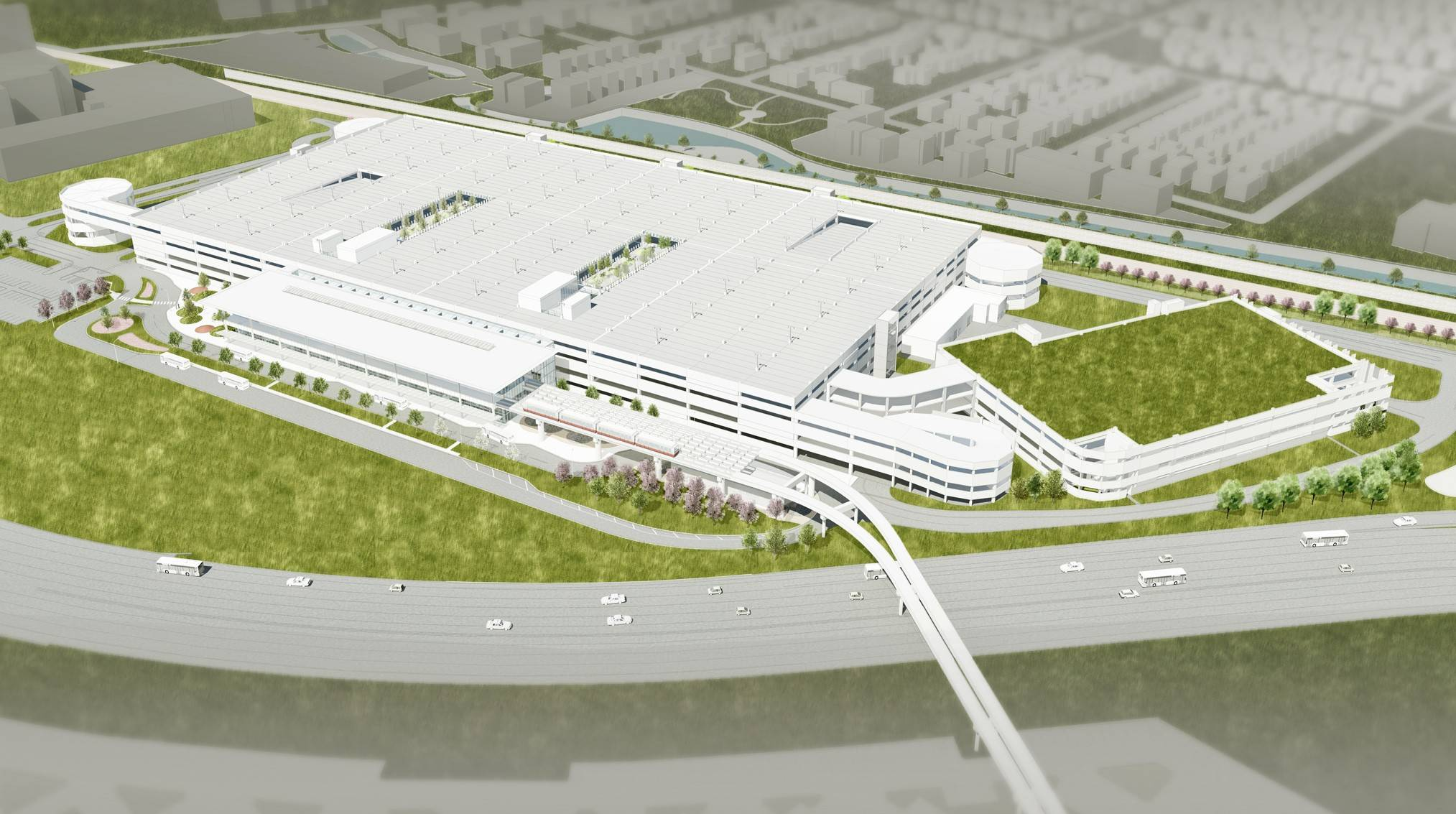 A new parking structure will take the place of Parking Lot F at O'Hare.