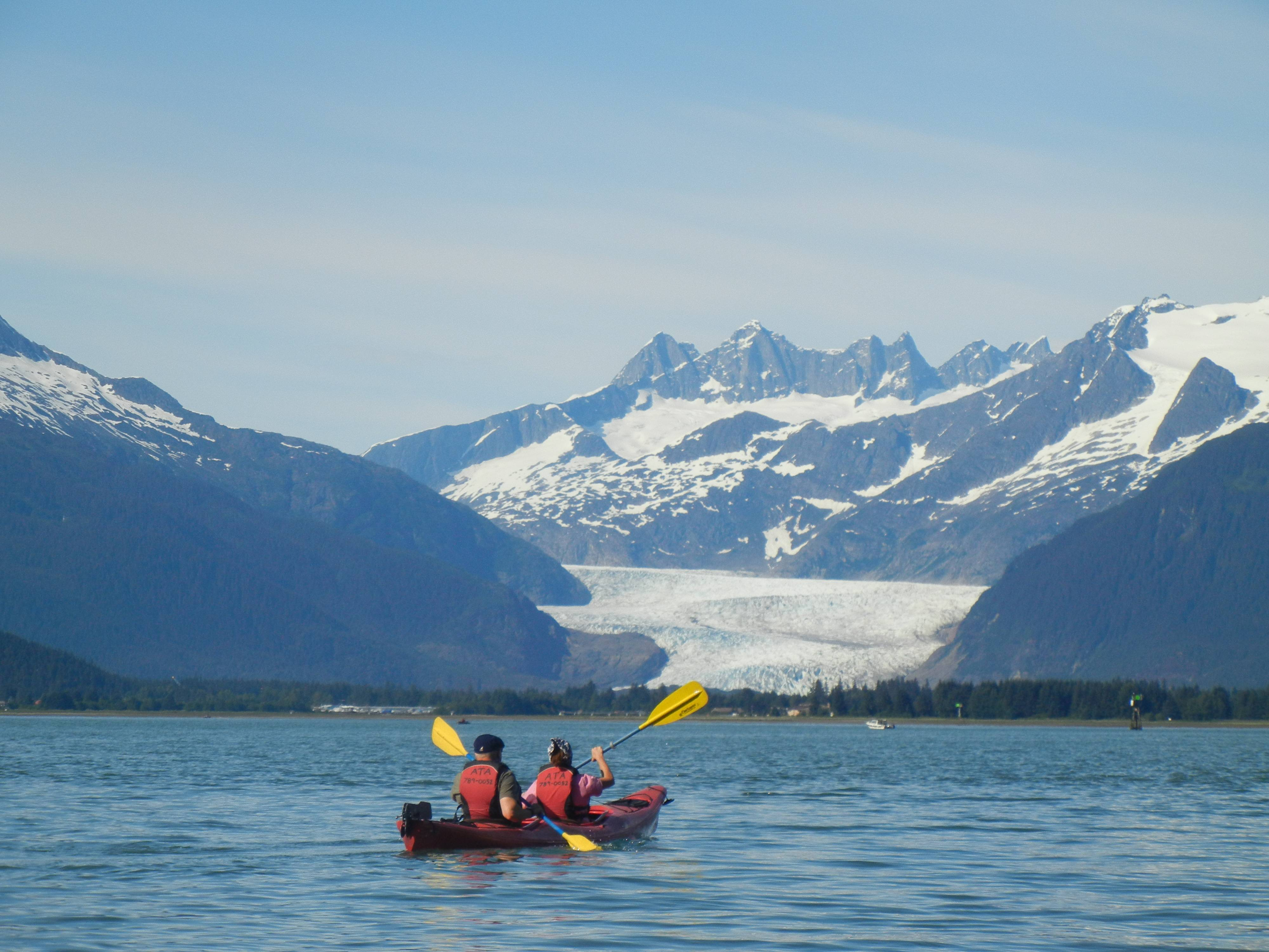 This picture was taken in Juneau Alaska last month. My husband and I were in Alaska celebrating our 25th Wedding Anniversary. We were on a Mendenhall Glacier Kayaking excursion