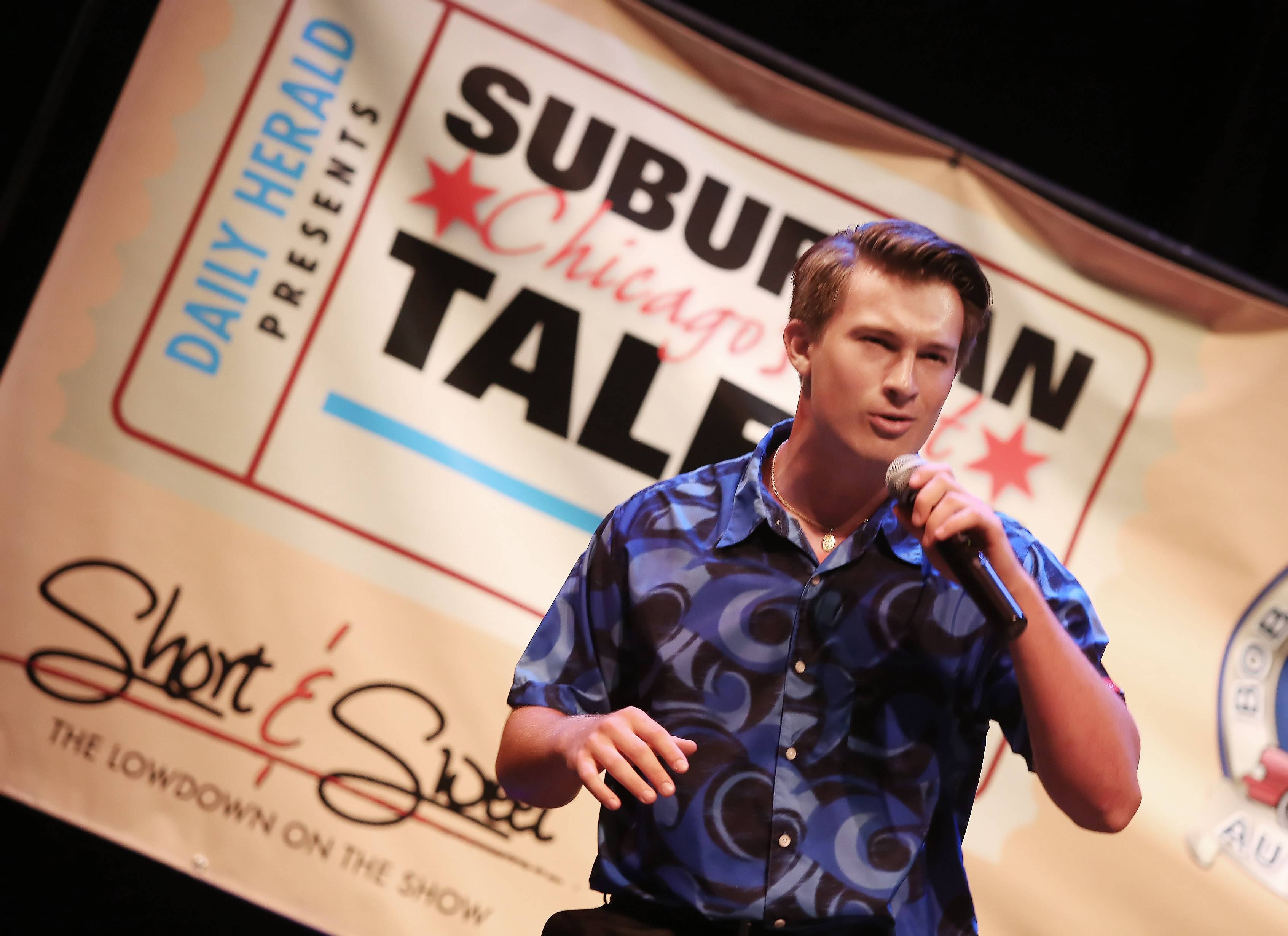 JT Snyder of Barrington sings during Suburban Chicago's Got Talent at the Prairie Center for the Arts in Schaumburg on Sunday. The top 15 finalists performed for judges and the audience as they competed for prizes.
