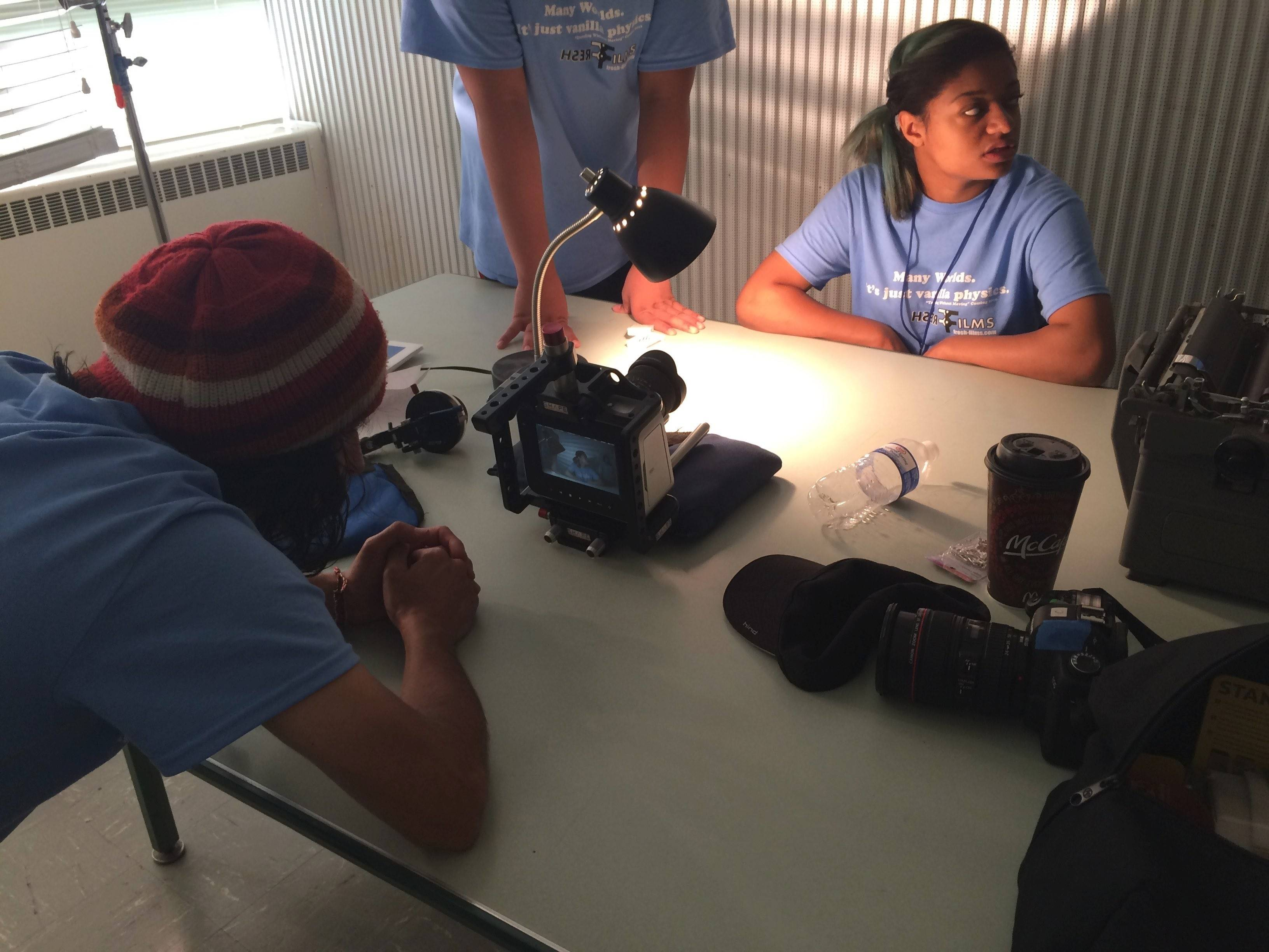 "Elgin teen Esperanza Golden works behind the scenes to make the movie, ""Traveling Without Moving,"" with Fresh Films production."