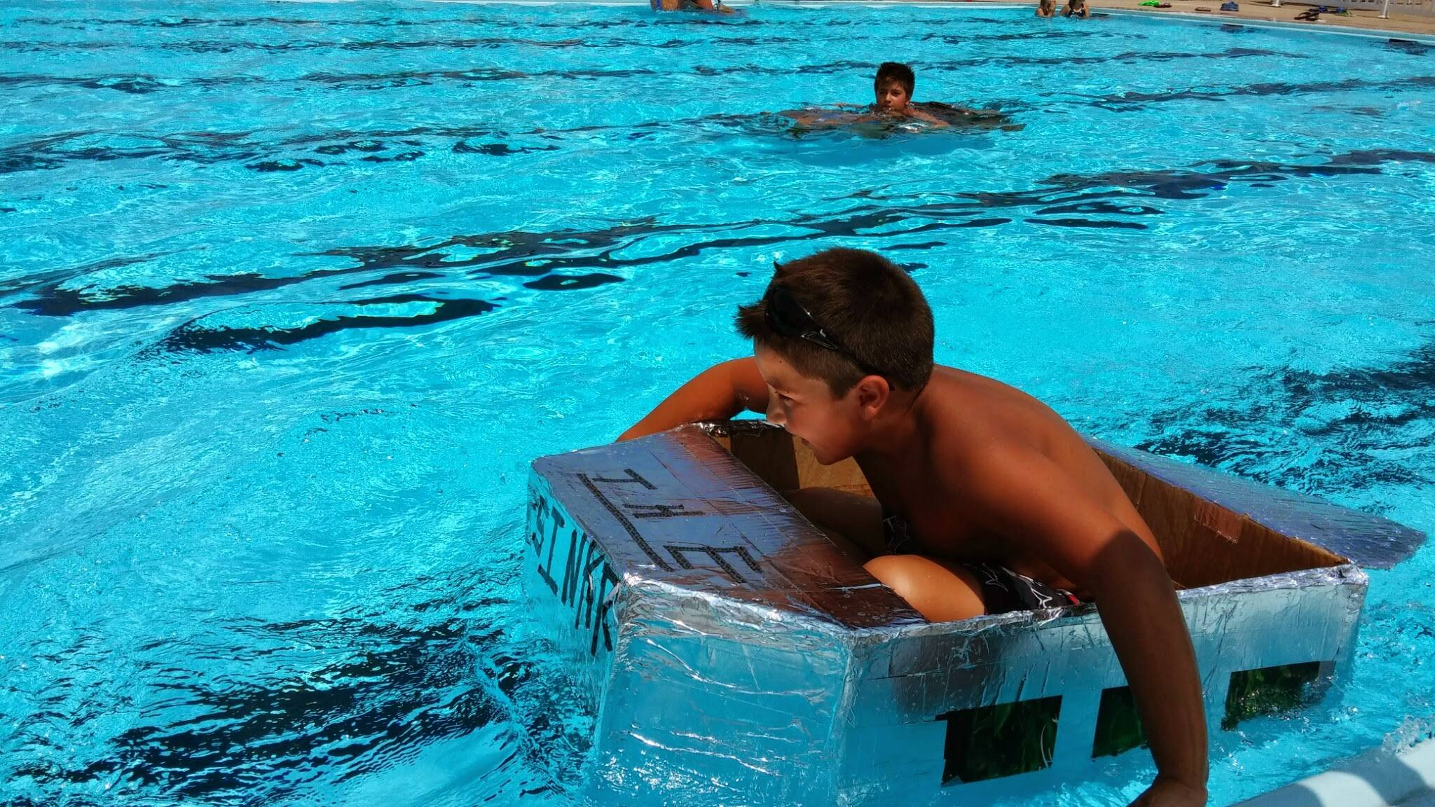 Cardboard boat racers are invited to compete in Addison's Build a Boat contest at the outdoor pool in Community Park on Saturday, August 8.Braulio Herrera