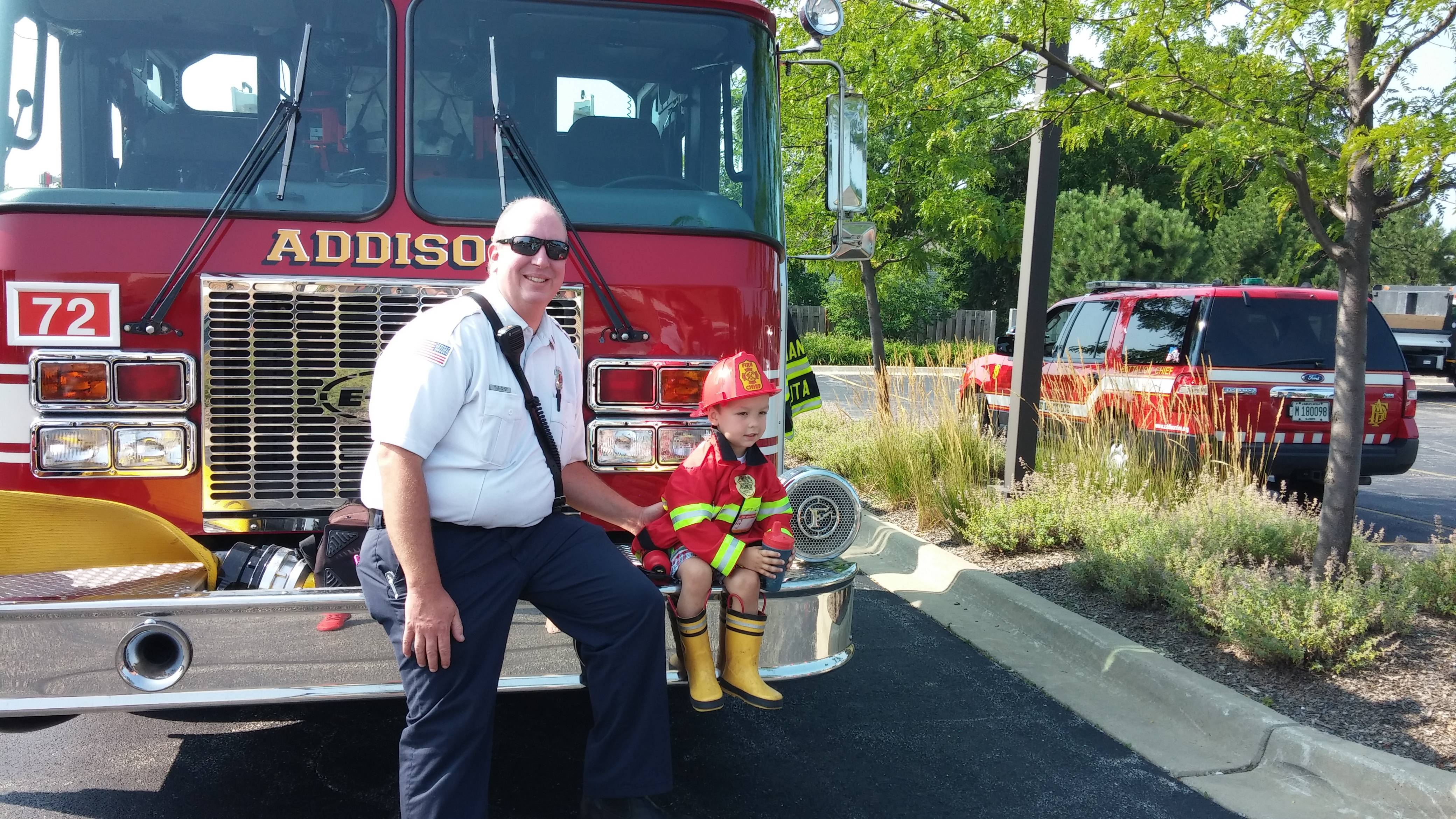 Addison Fire District will be present at the 2015 Touch a Truck morning event in Centennial Park on Saturday, August 8.Braulio Herrera