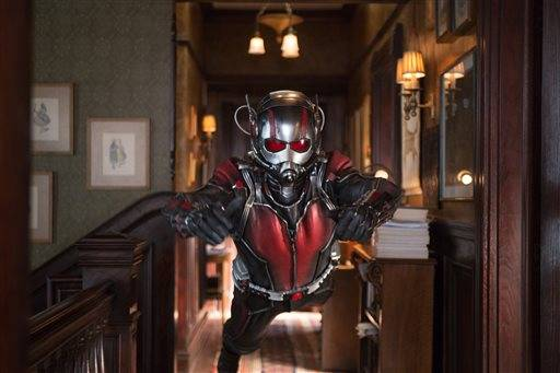 "Paul Rudd plays Scott Lang/Ant-Man in Marvel's ""Ant-Man,"" which snuck past the new release ""Pixels"" for top honors at the box office this weekend."