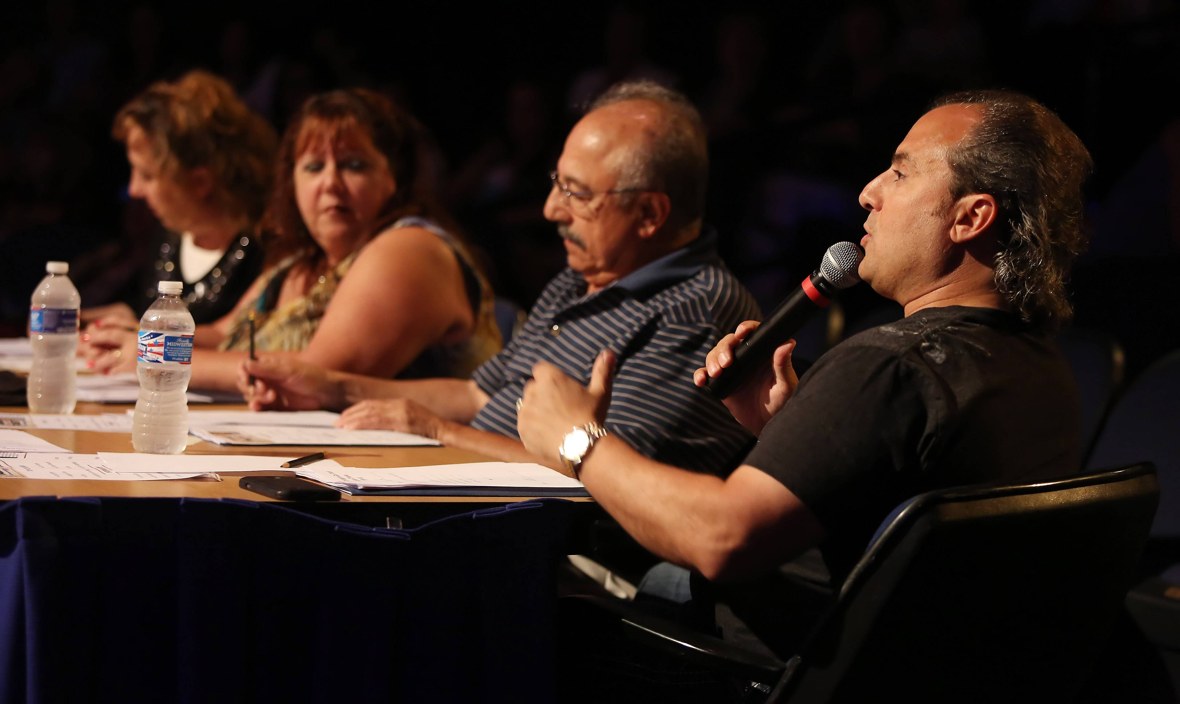 Suburban Chicago's Got Talent judges Barbara Vitello, left, Beth Waller, John Flamini and Ron Onesti have helped bring the field down to a Top 10.